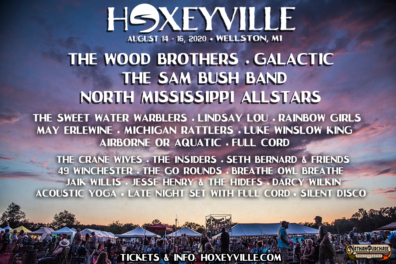 Hoxeyville Music Festival 2020 Lineup Features The Wood Brothers, Galactic, Sam Bush Band, North Mississippi Allstars & More!