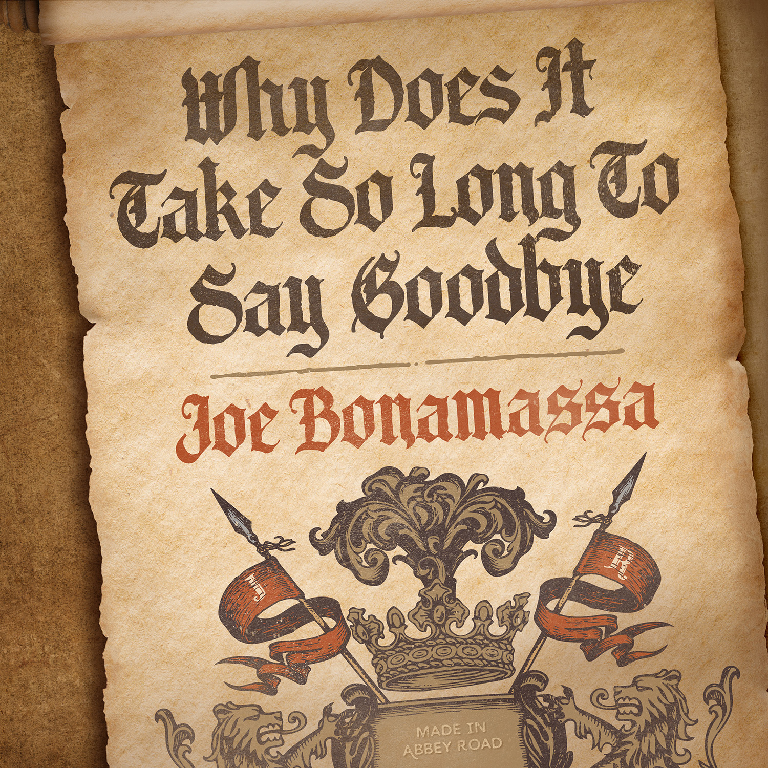 "Joe Bonamassa shares new track from Abbey Road recordings ""Why Does It Take So Long To Say Goodbye"""