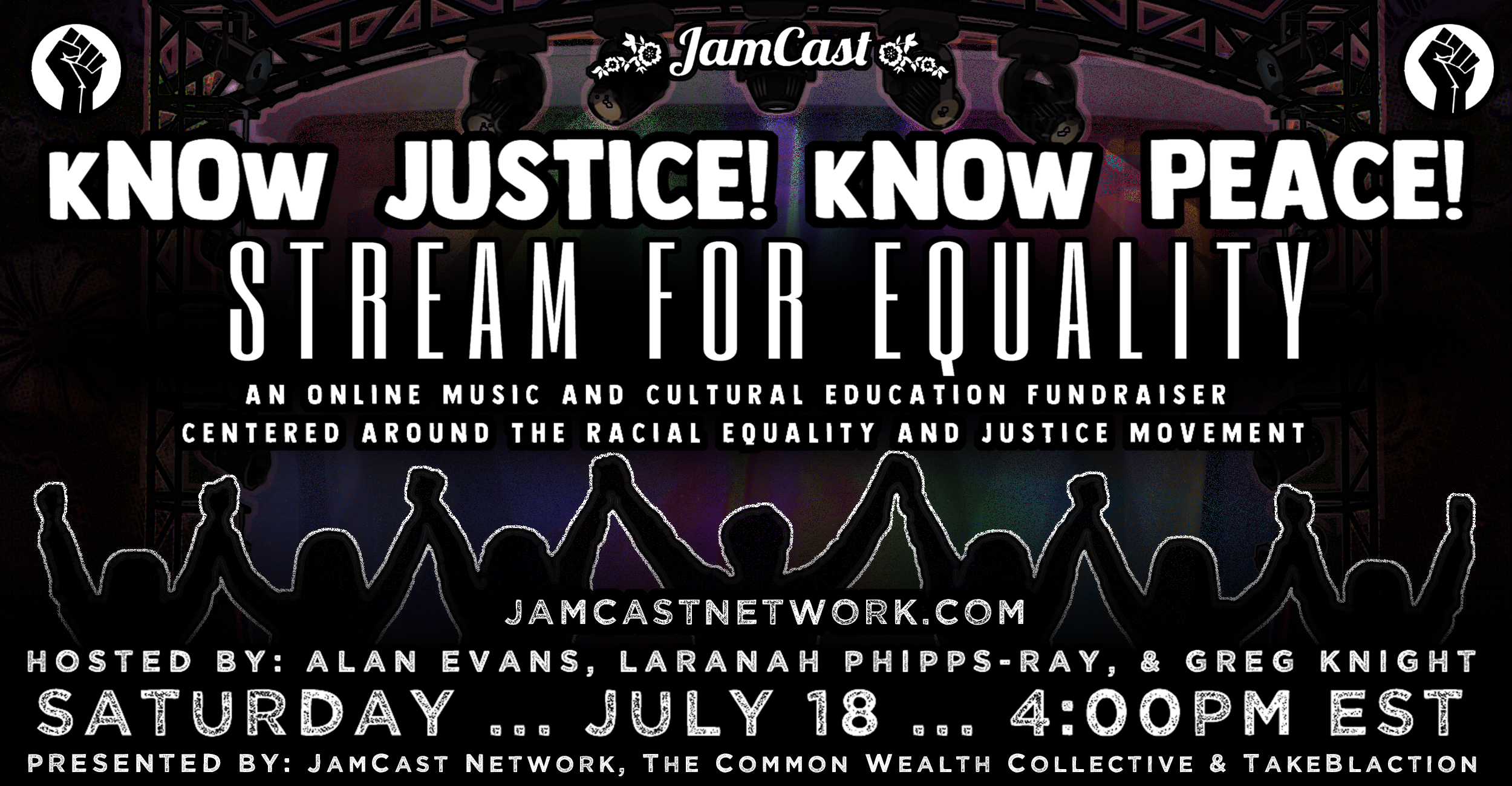 JamCast Presents: kNOw Justice! kNOw Peace! Stream for Equality