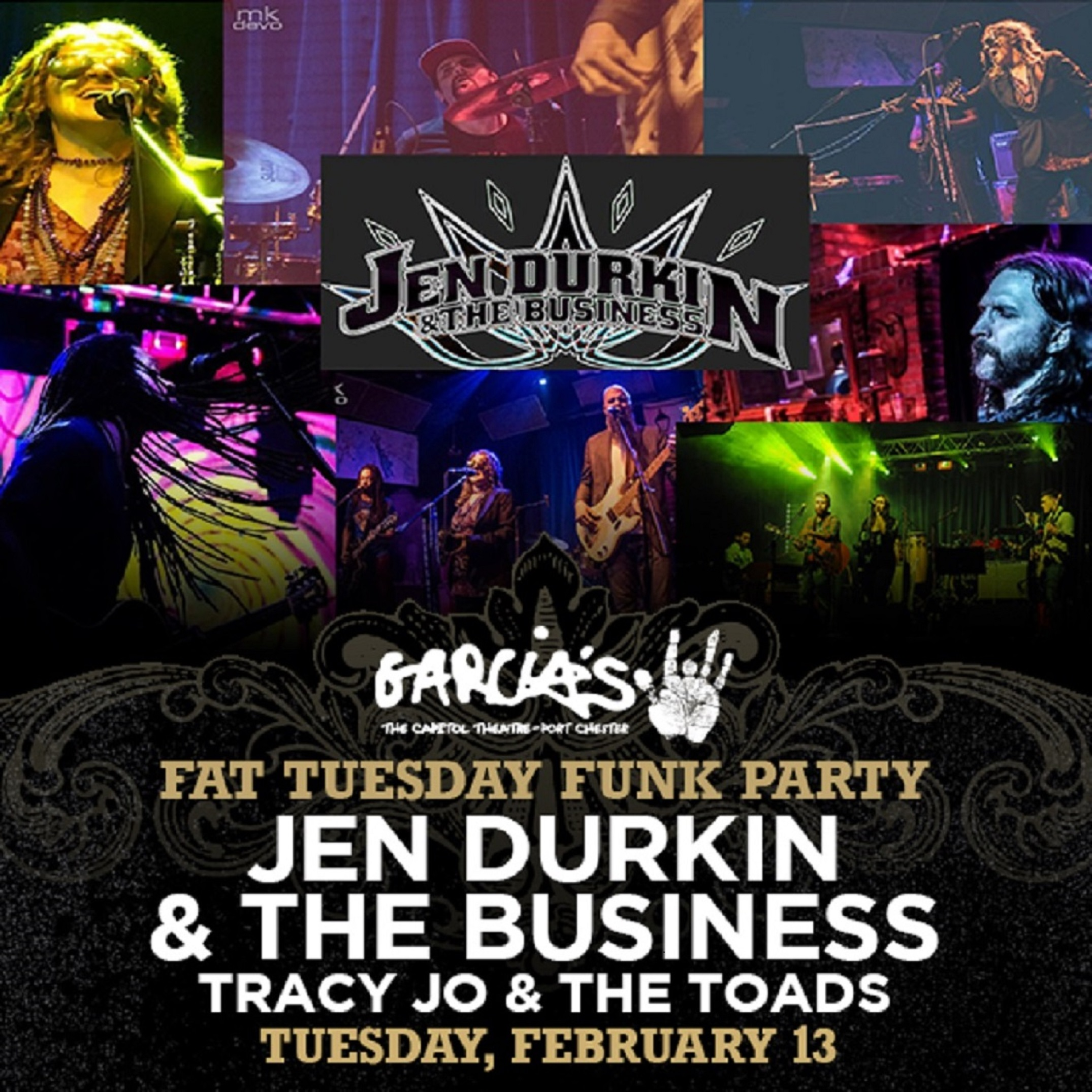Fat Tuesday Mardi Gras Funk Party at Garcia's