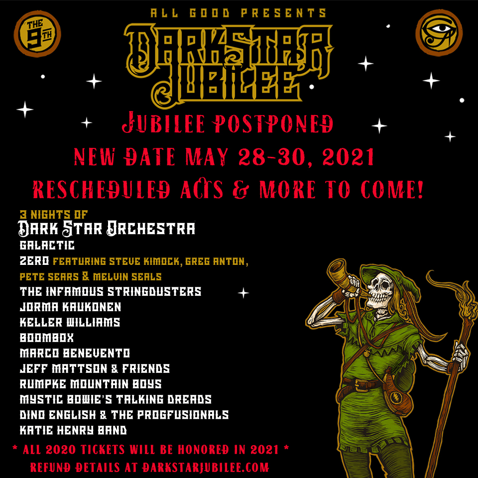 Dark Star Jubilee Postponed to 2021