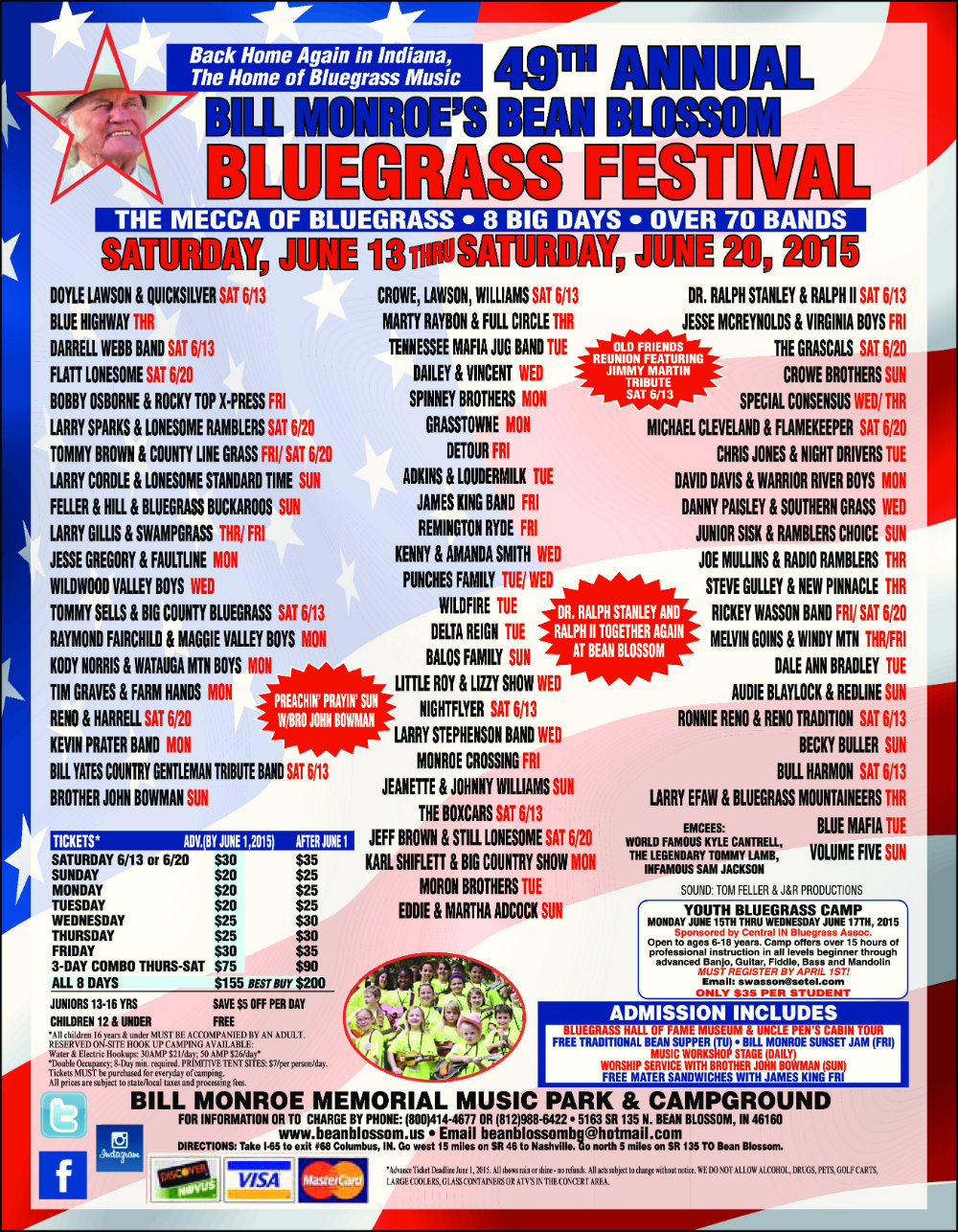 49th Annual Bill Monroe Memorial Bean Blossom Bluegrass Festival