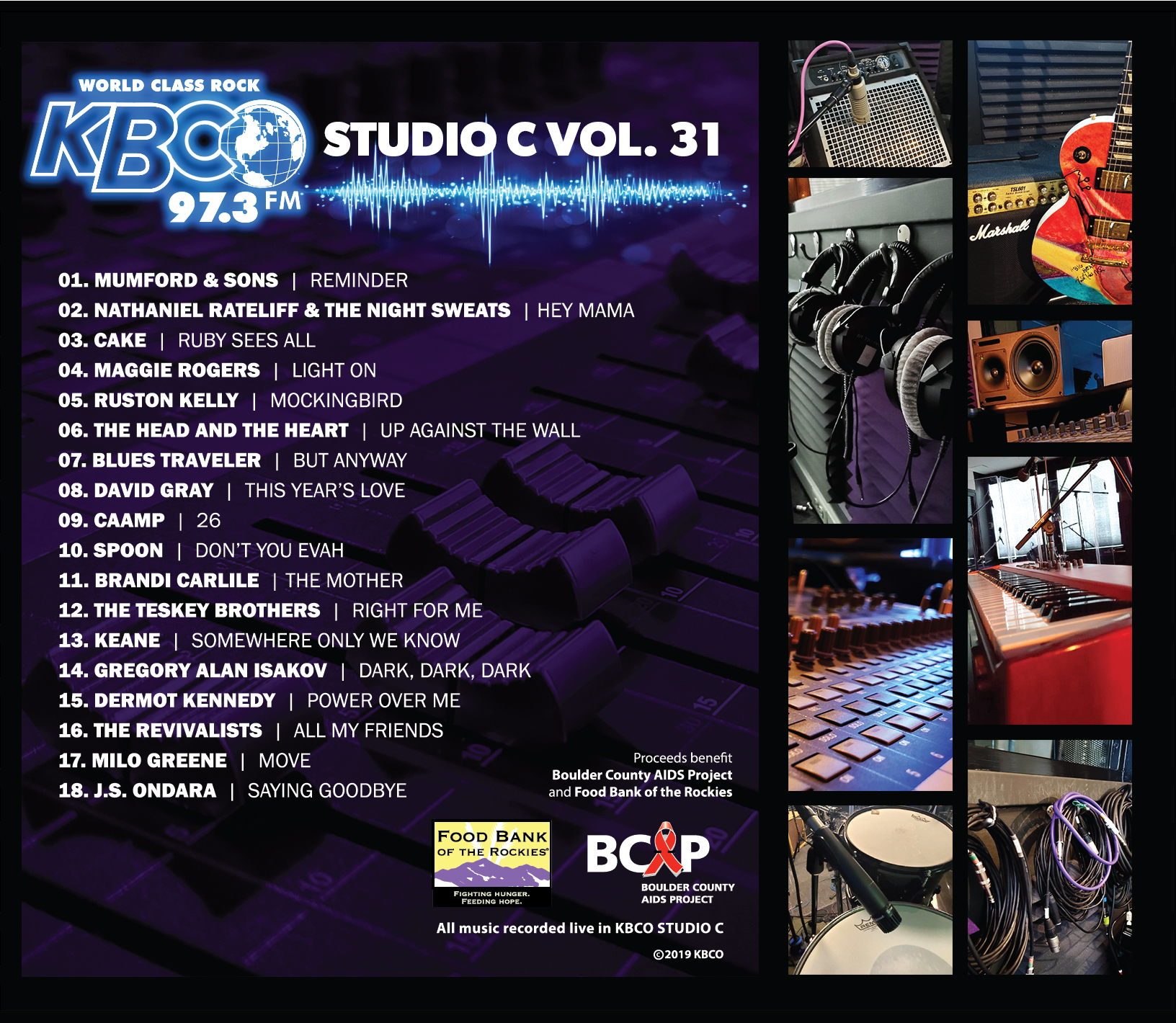 KBCO Announces Studio C Volume 31