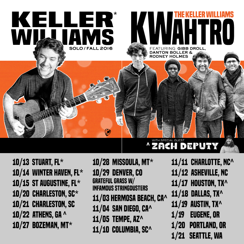 Keller Williams Announces Fall 2016 Dates