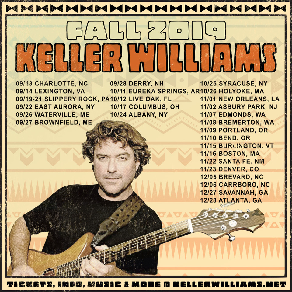 Keller Williams Announces Extensive 2019 Fall Tour