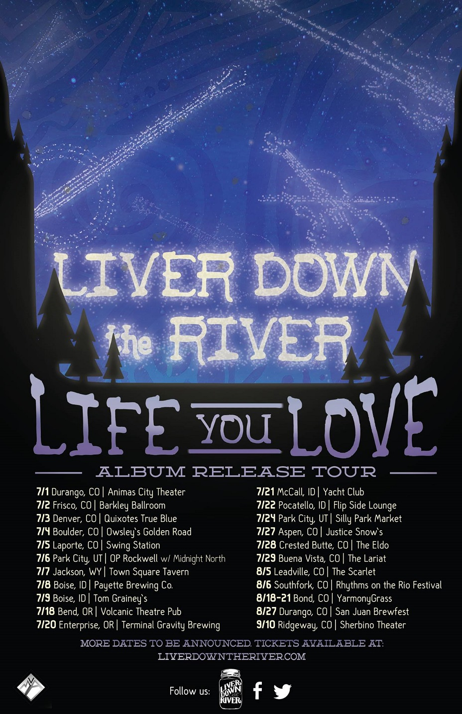 Liver Down The River Announce National Tour