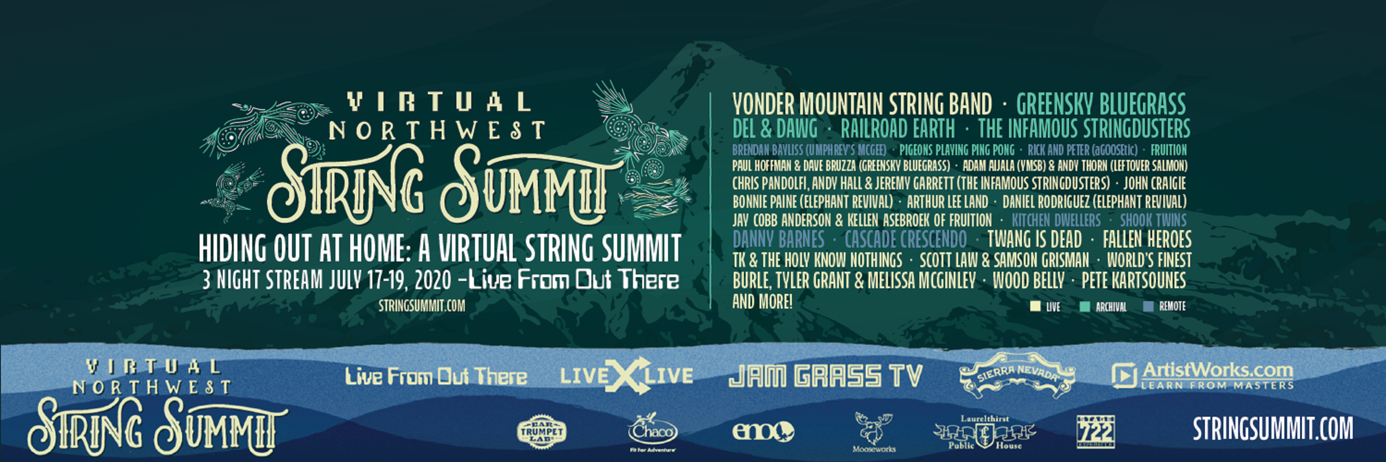 Northwest String Summit Announces Hiding Out At Home: A Virtual Northwest String Summit, June 17-19