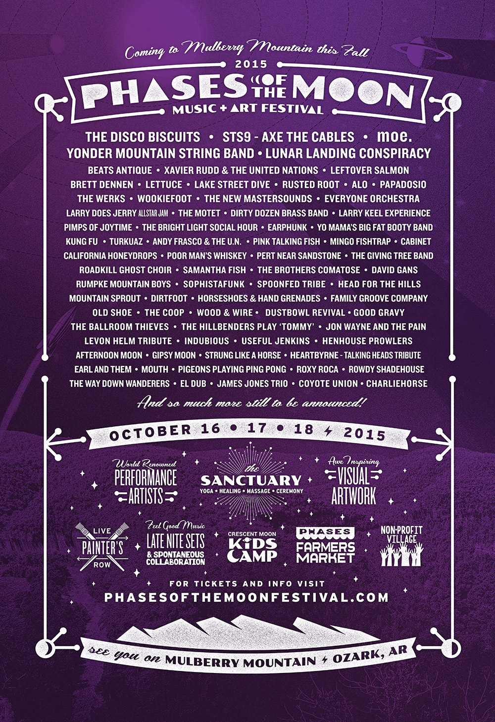 Phases of the Moon Music & Arts Festival Announces Initial Lineup