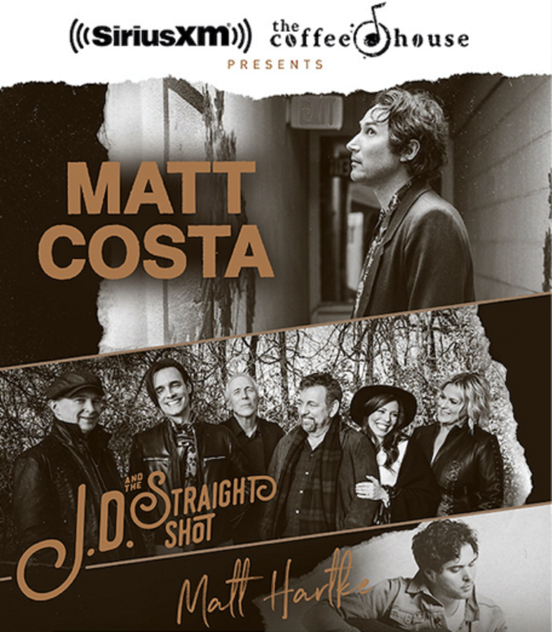 Matt Costa, JD & The Straight Shot and Matt Hartke Live on Tour