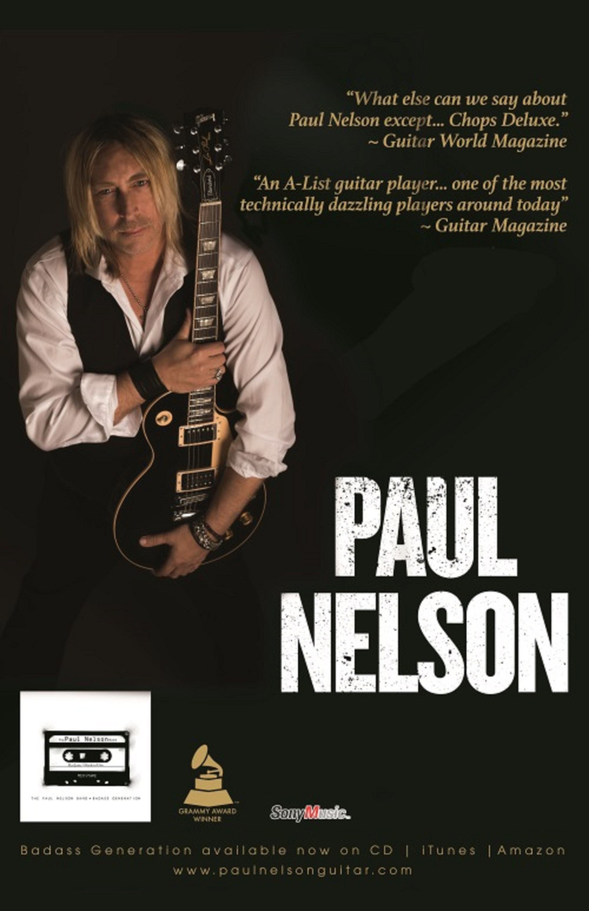 Paul Nelson Announces Fall and Winter Tour Dates