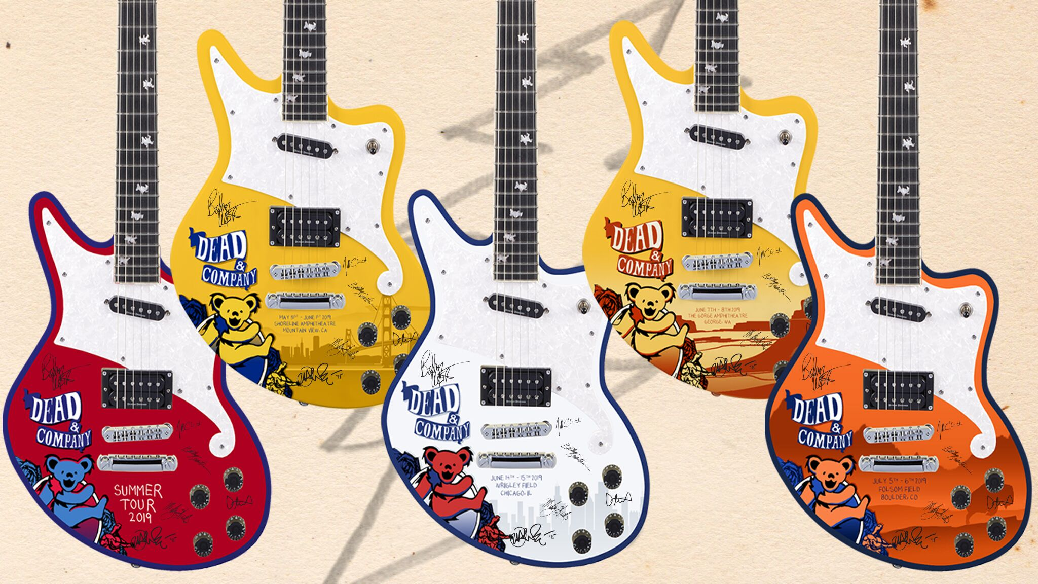 Unveiling the Pins + Guitars for Dead & Company Participation Row