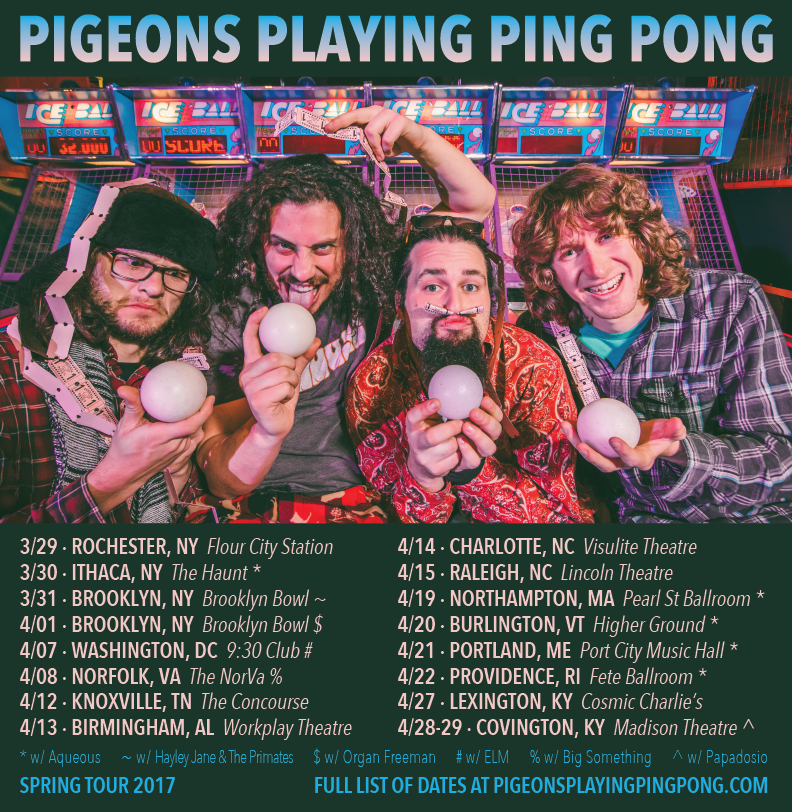 Pigeons Playing Ping Pong Announce Winter/Spring Dates