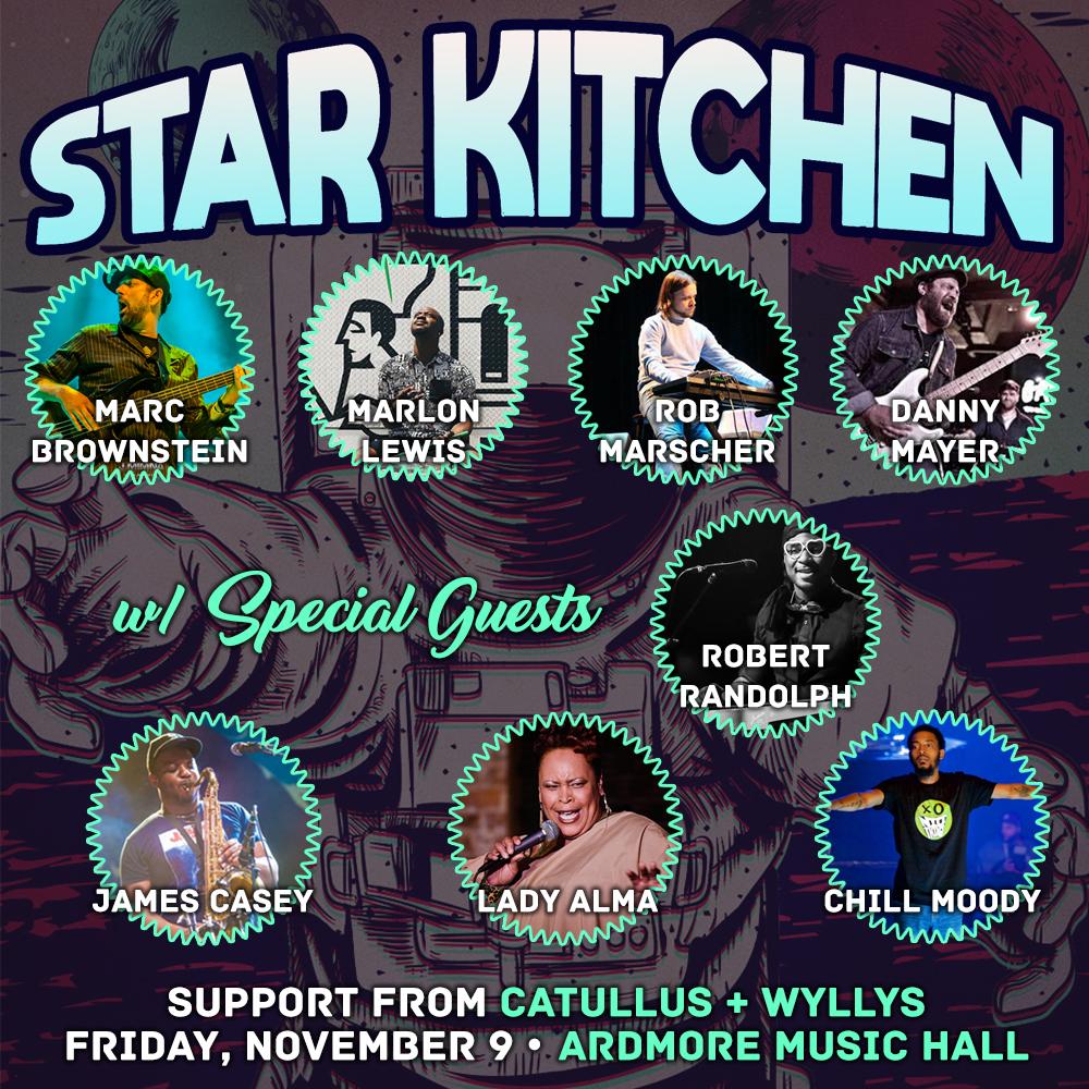 Marc Brownstein's Funk Supergroup 'Star Kitchen' To Make Debut in Ardmore with special guest Robert Randolph