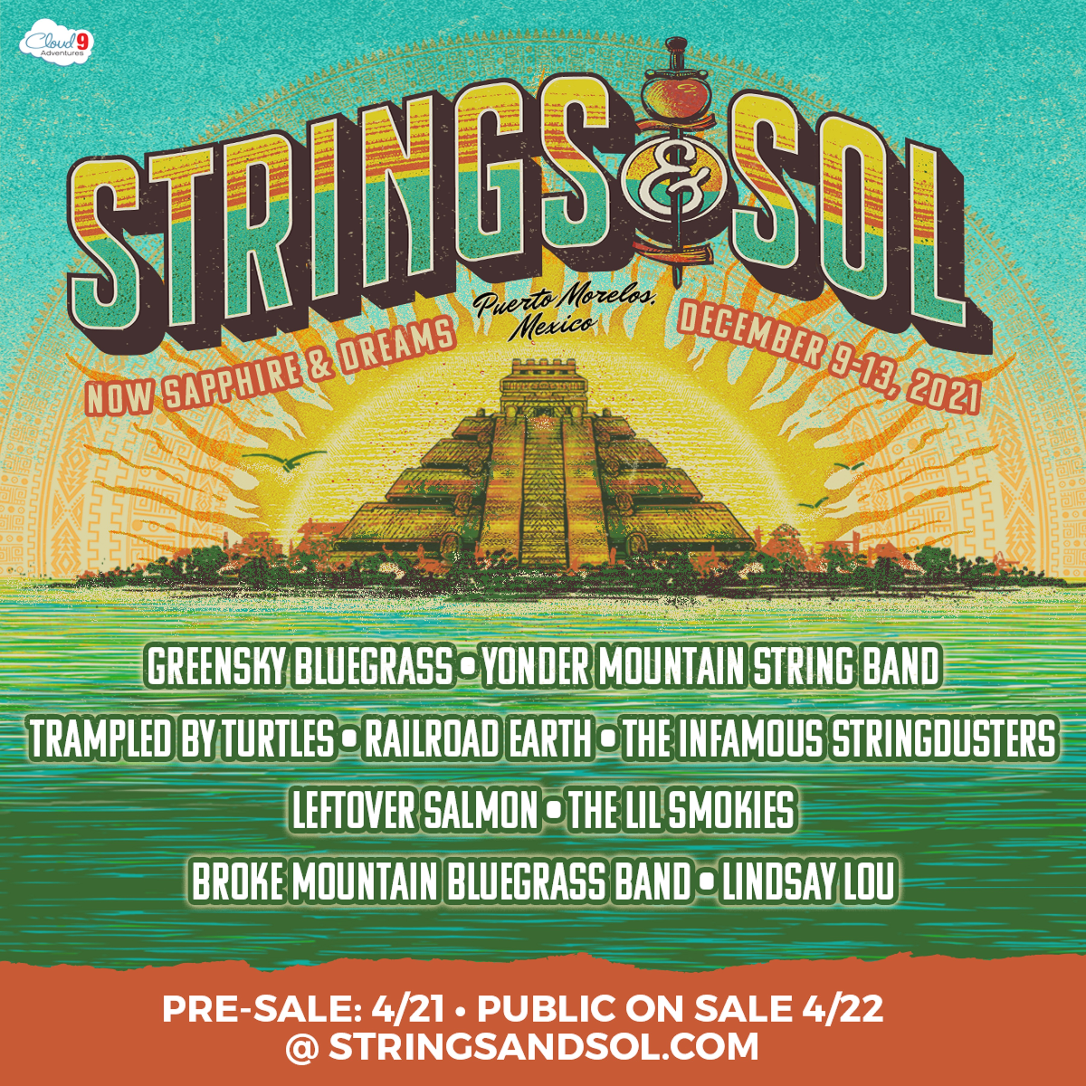Strings & Sol Announces Lineup and Event Details for All-Inclusive Concert Vacation in Mexico, December 9-13, 2021