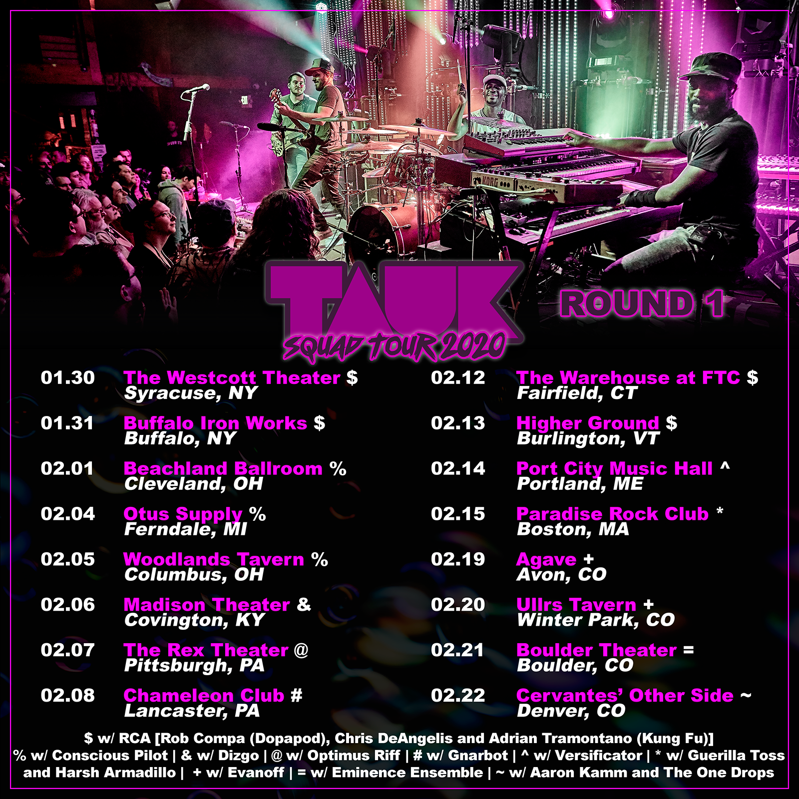 TAUK announces support for Winter Tour, Hosts NYE Watch Party Tonight