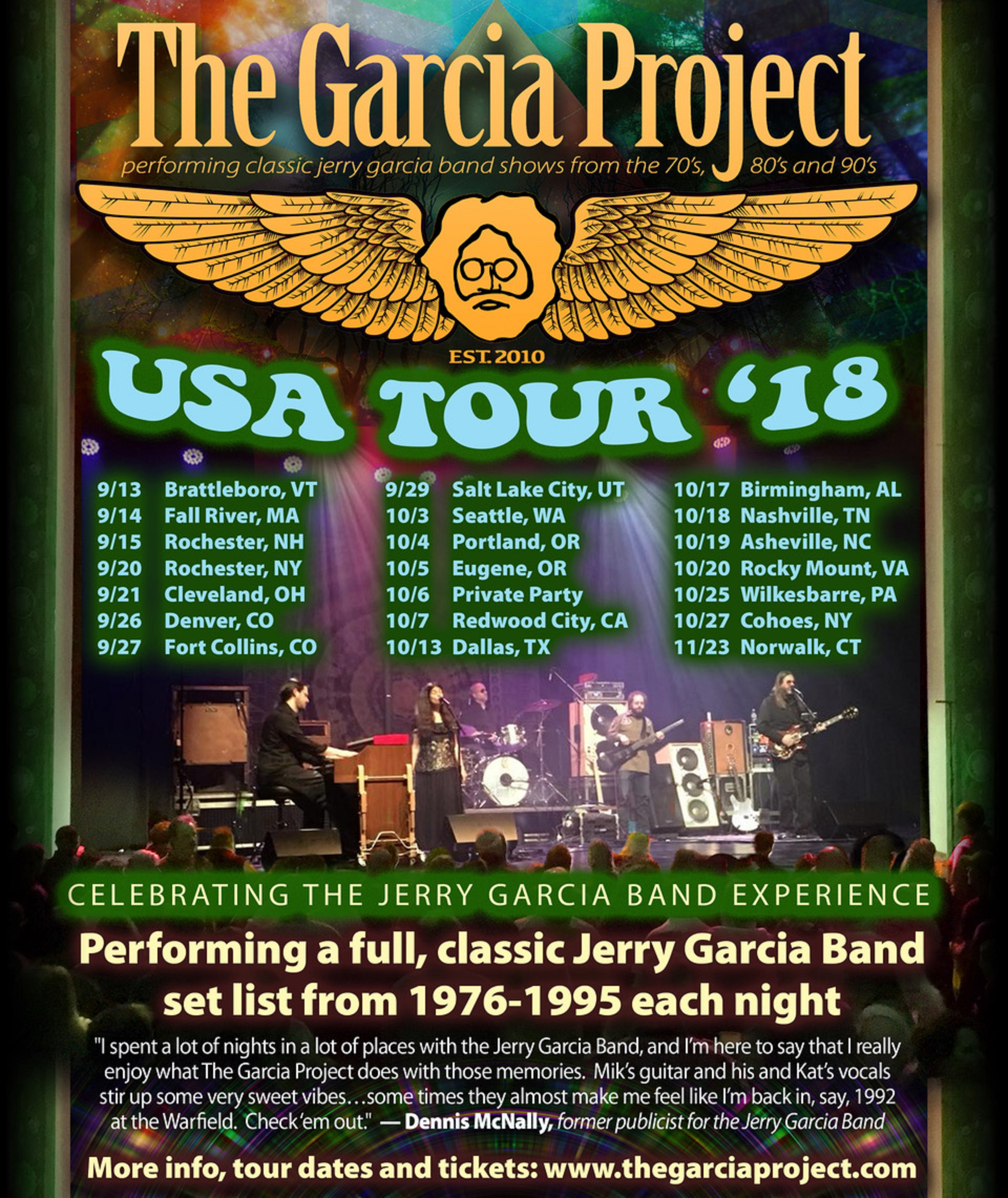 The Garcia Project announce first USA Tour