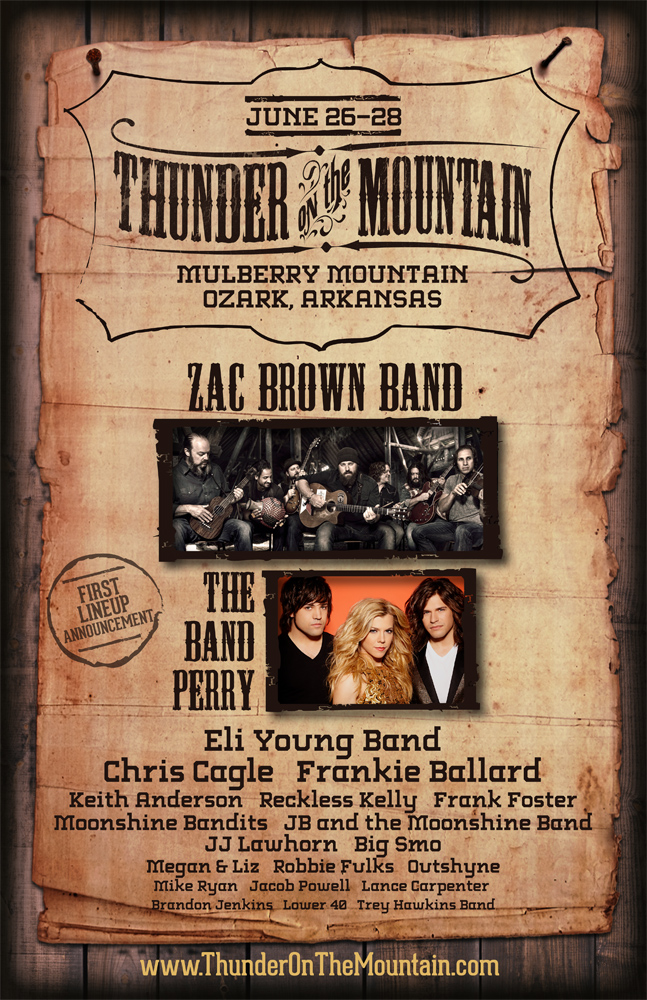 Thunder on the Mountain Announces First Round of Artists