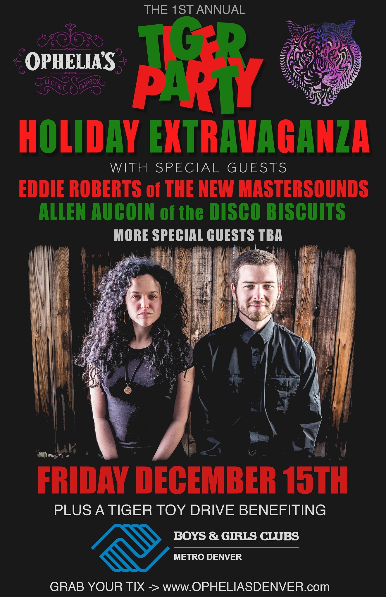 Tiger Party's Holiday Extravaganza ft. Eddie Roberts and Allen Aucoin