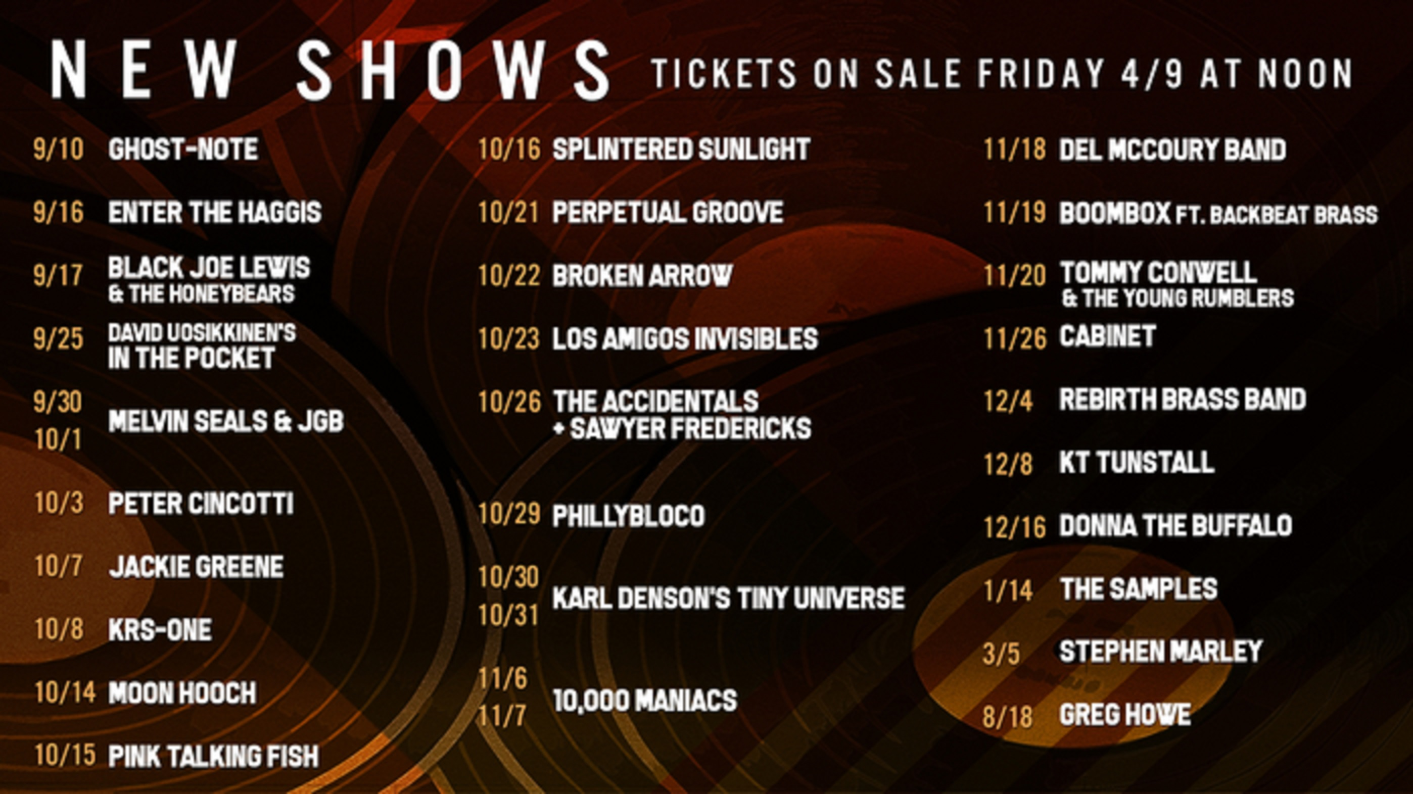 Ardmore Music Hall announces 30+ shows for Fall 2021