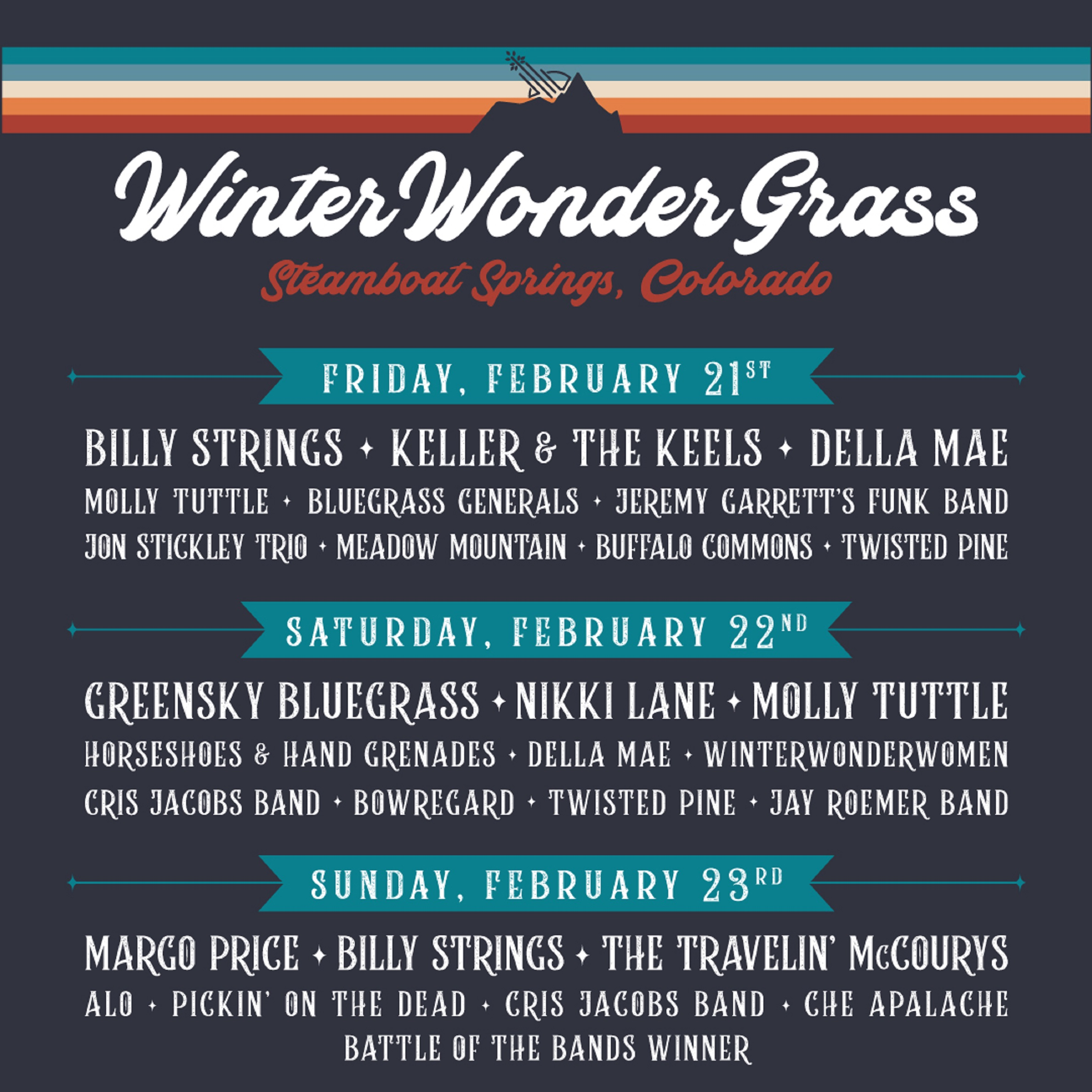 Greensky Bluegrass, Billy Strings x 2 & Margo Price To Headline Colorado-Edition of WinterWonderGrass