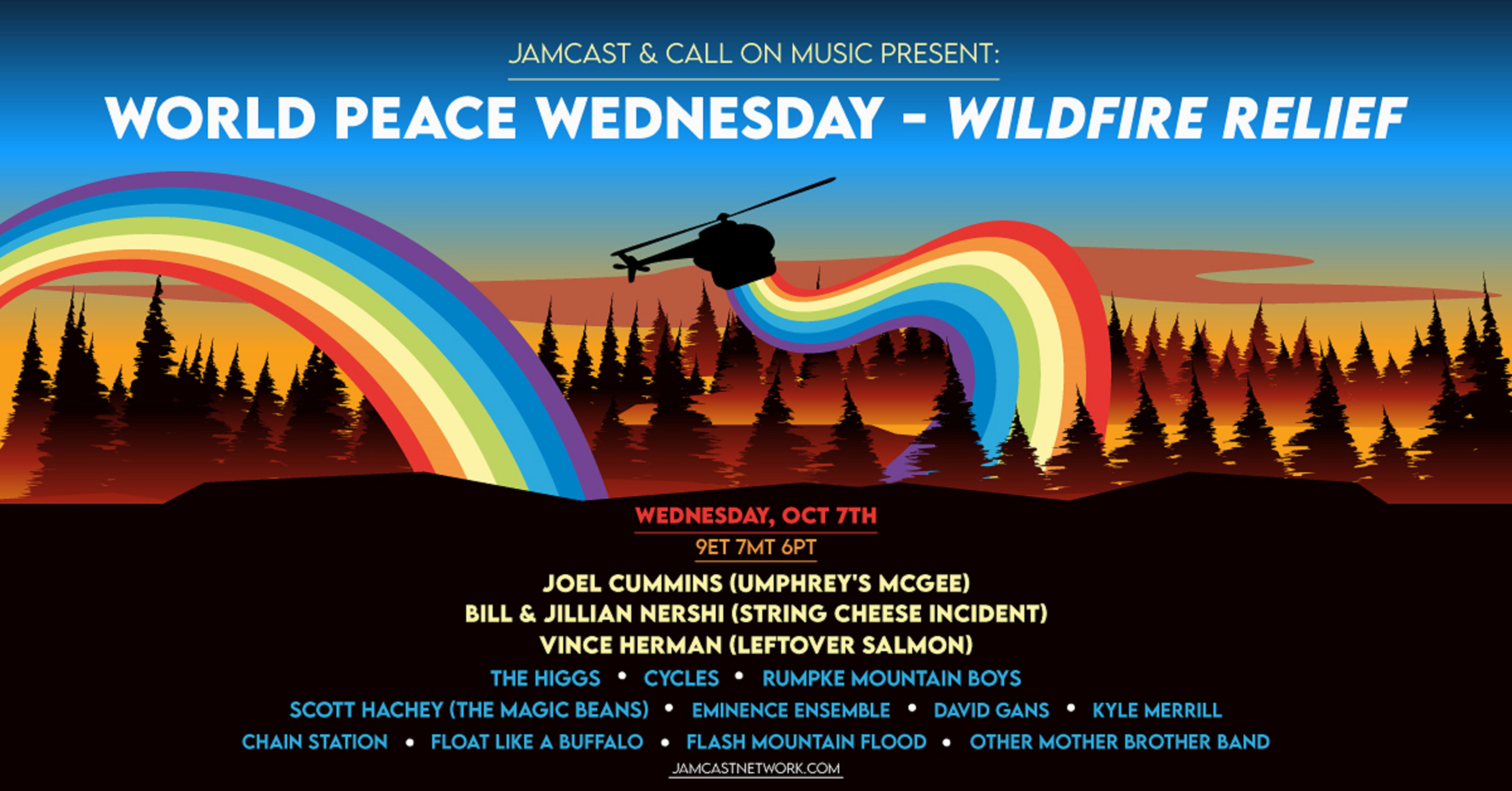 """World Peace Wednesday for Wildfire Relief"""