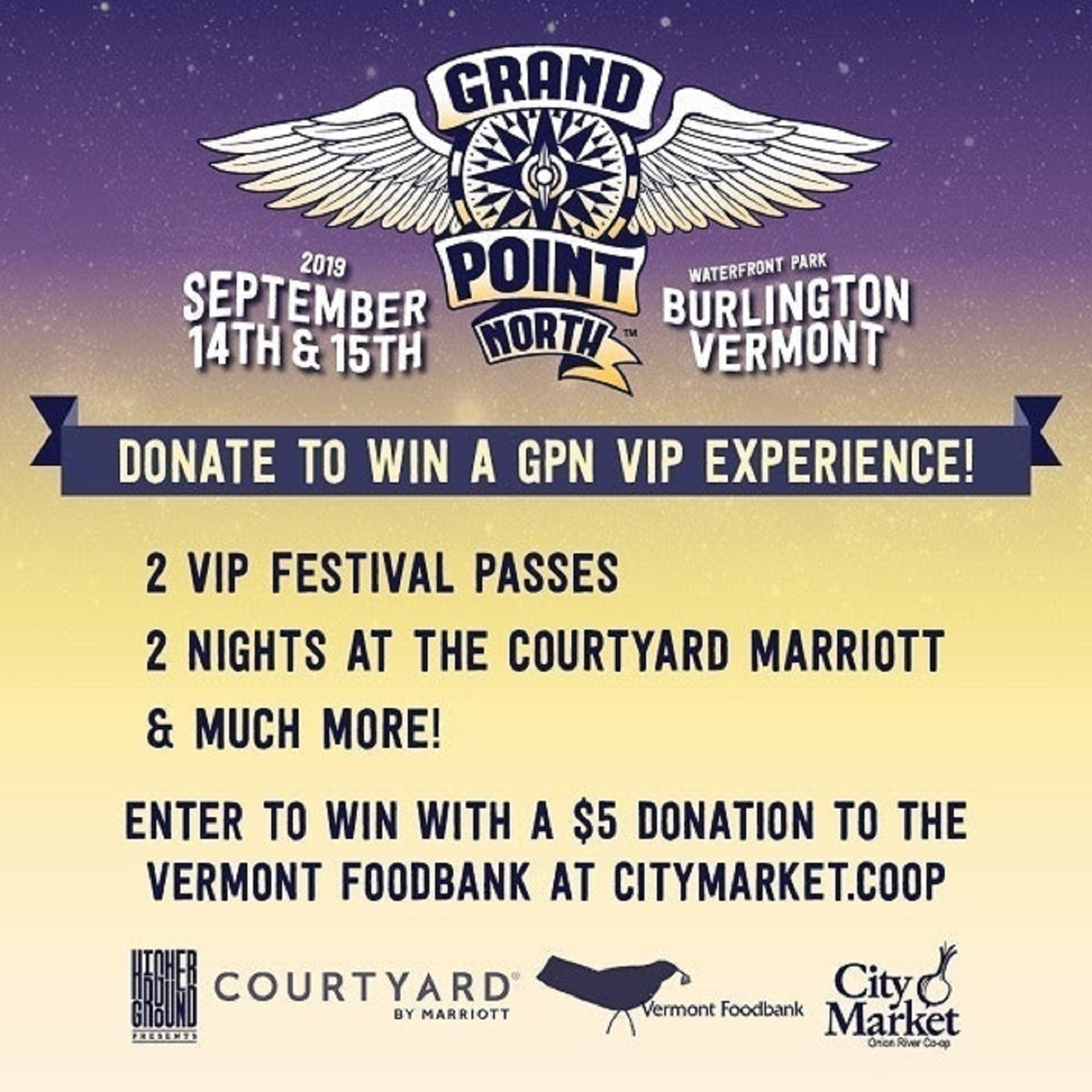 Grand Point North Partners With City Market To Benefit the Vermont Foodbank