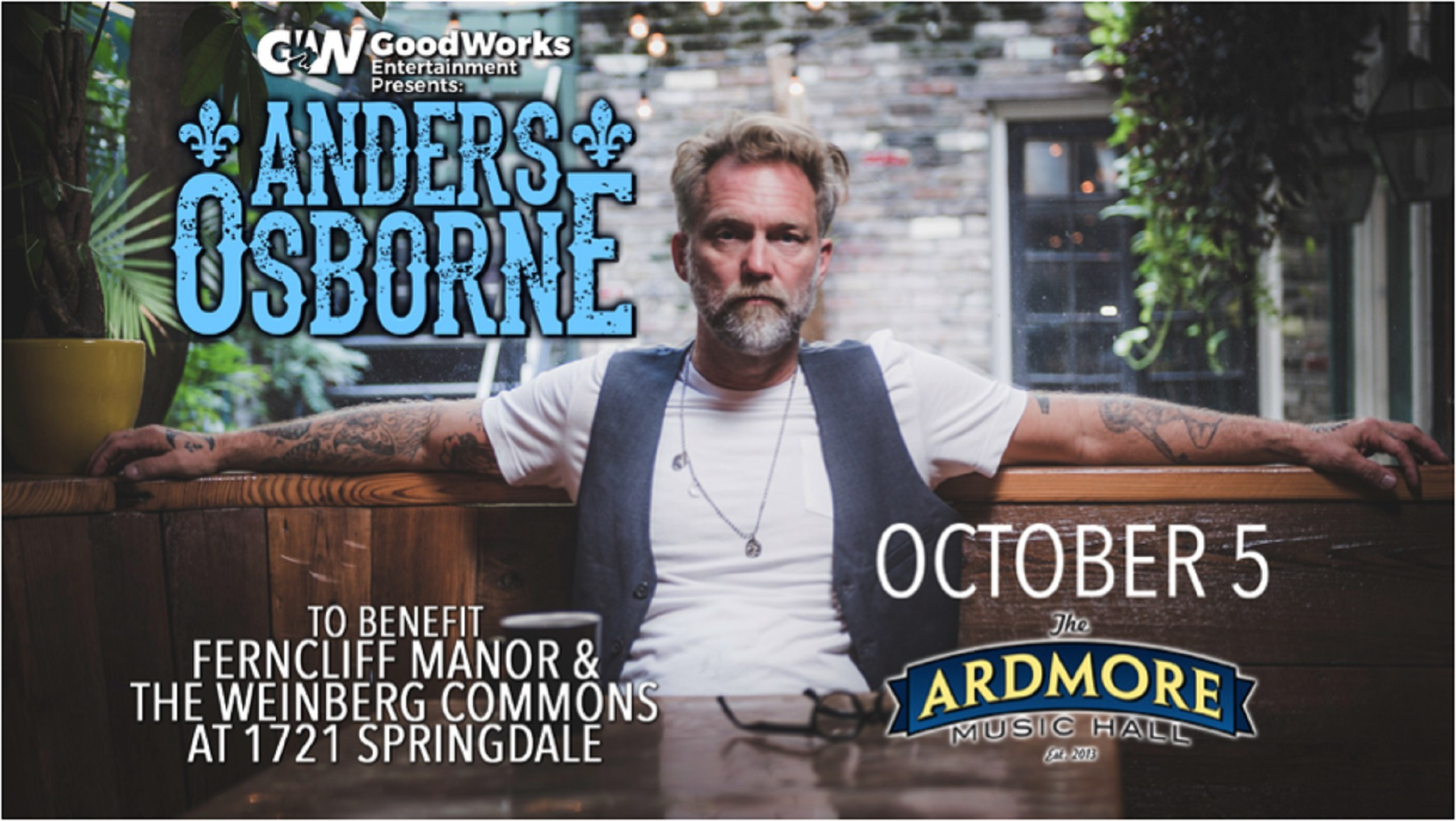 Anders Osborne at Ardmore Music Hall | 10/5/18