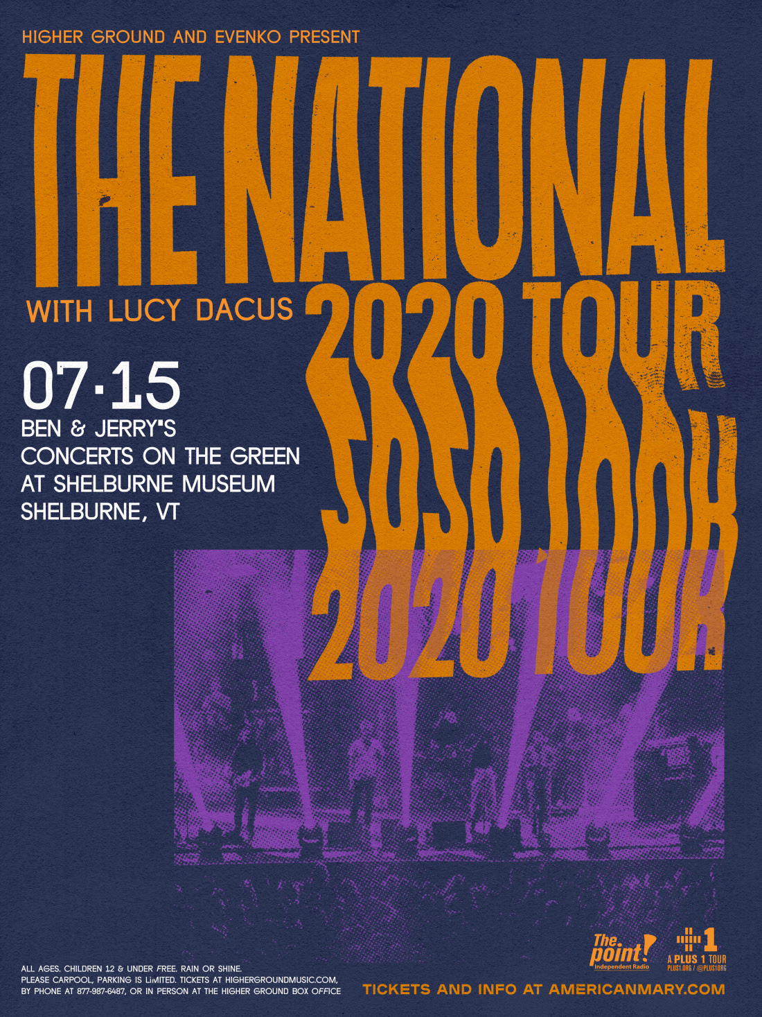 The National on July 15th at Shelburne Museum