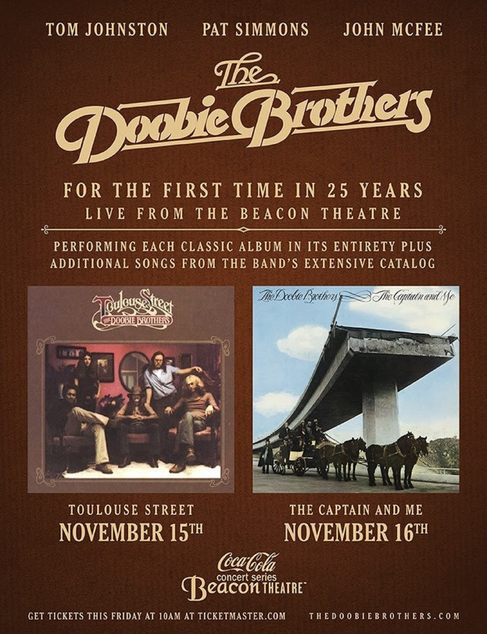 The Doobie Brothers Announce Historic Full-Album Performances
