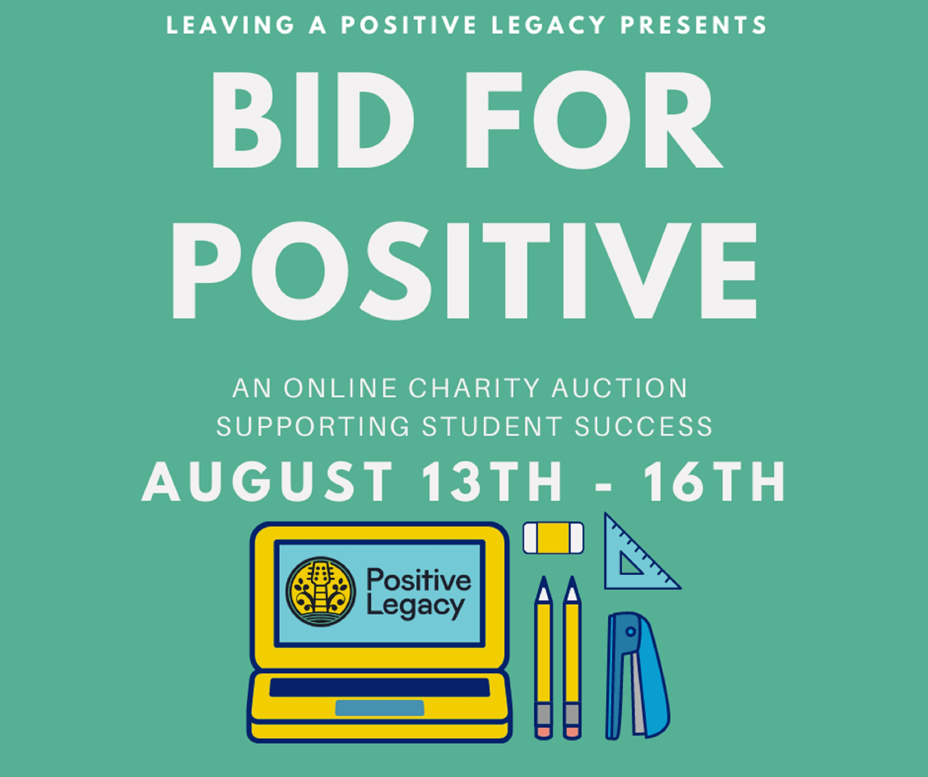 Positive Legacy Announces Rock Auction Benefitting Our Back To School Program