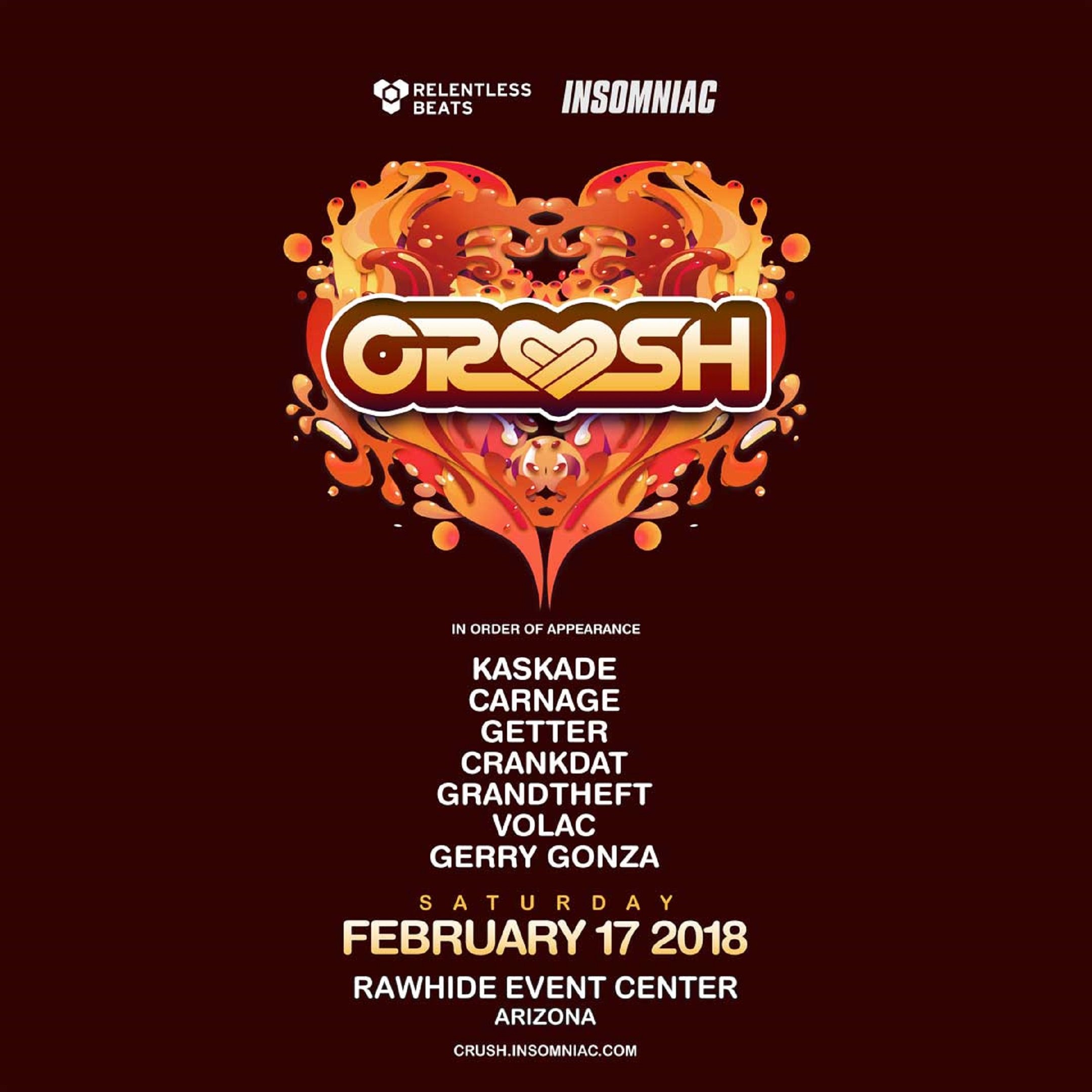 CRUSH ARIZONA RETURNS, FEBRUARY 17, 2018
