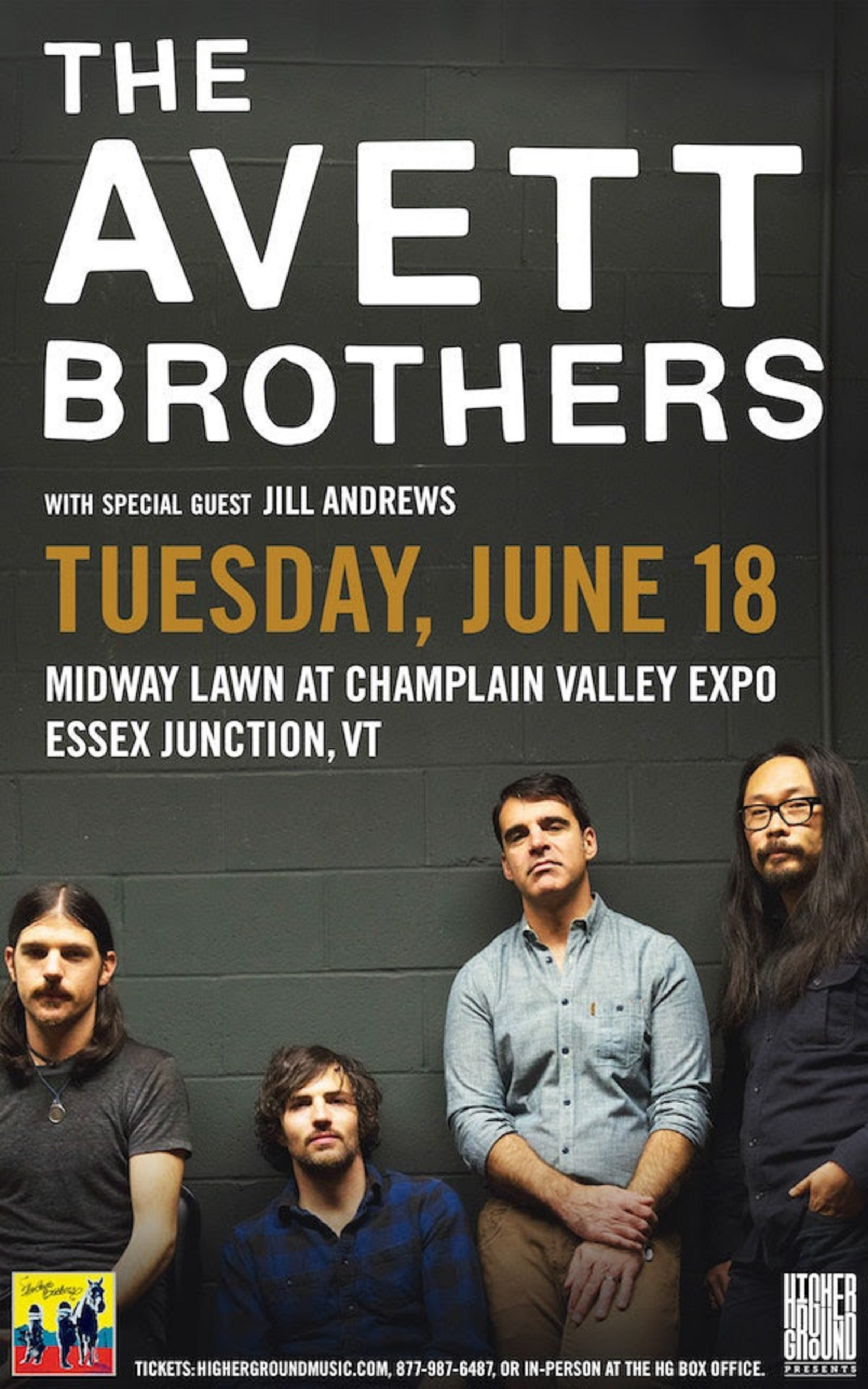 The Avett Brothers to play Midway Lawn in Essex