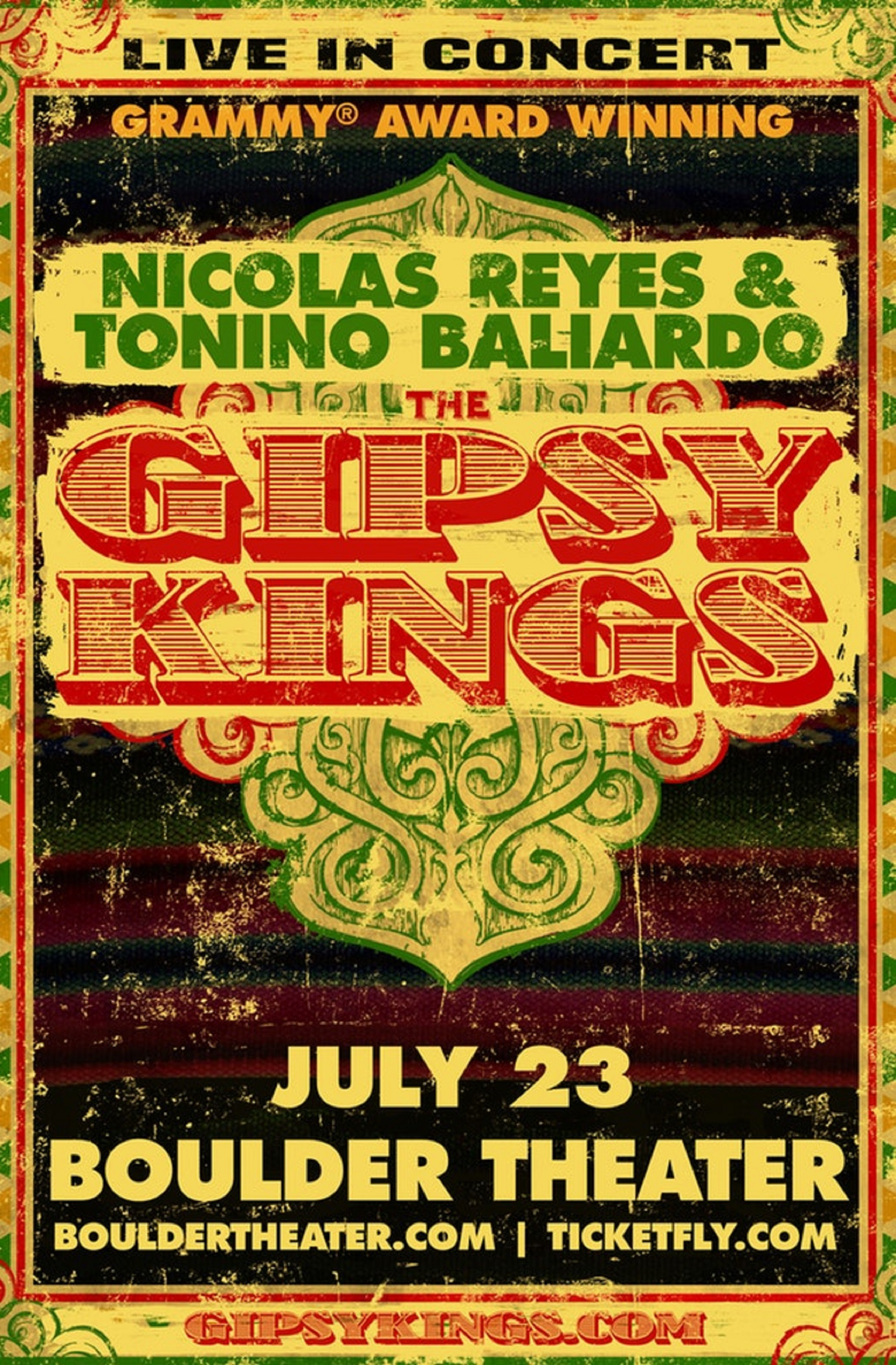 The Gipsy Kings will play the Boulder Theater this summer