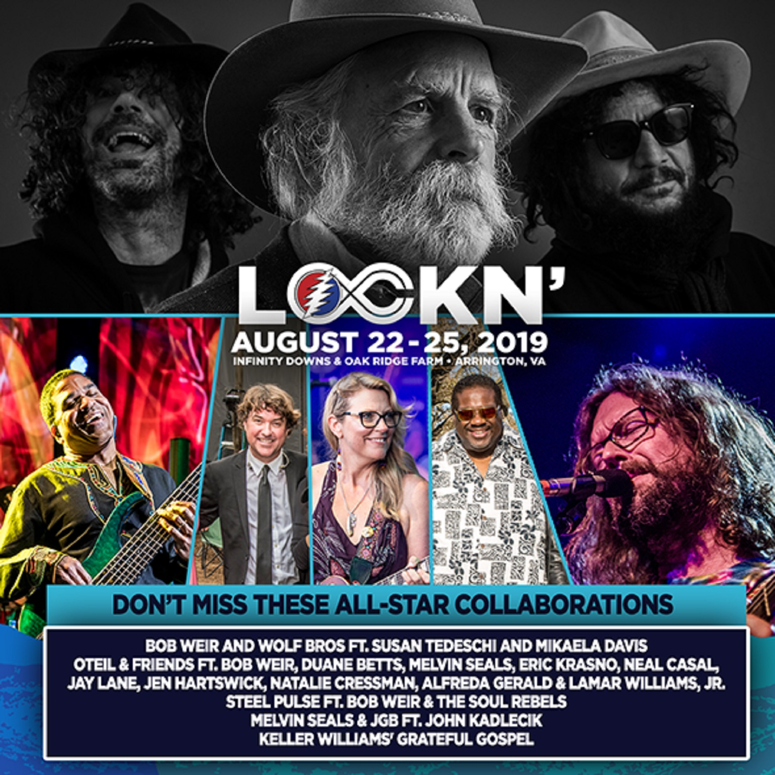 DeadHeads Unite for LOCKN' Festival on AUG 22 - 25!