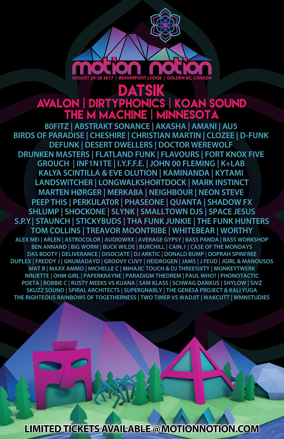 Motion Notion 2017 Phase II Lineup