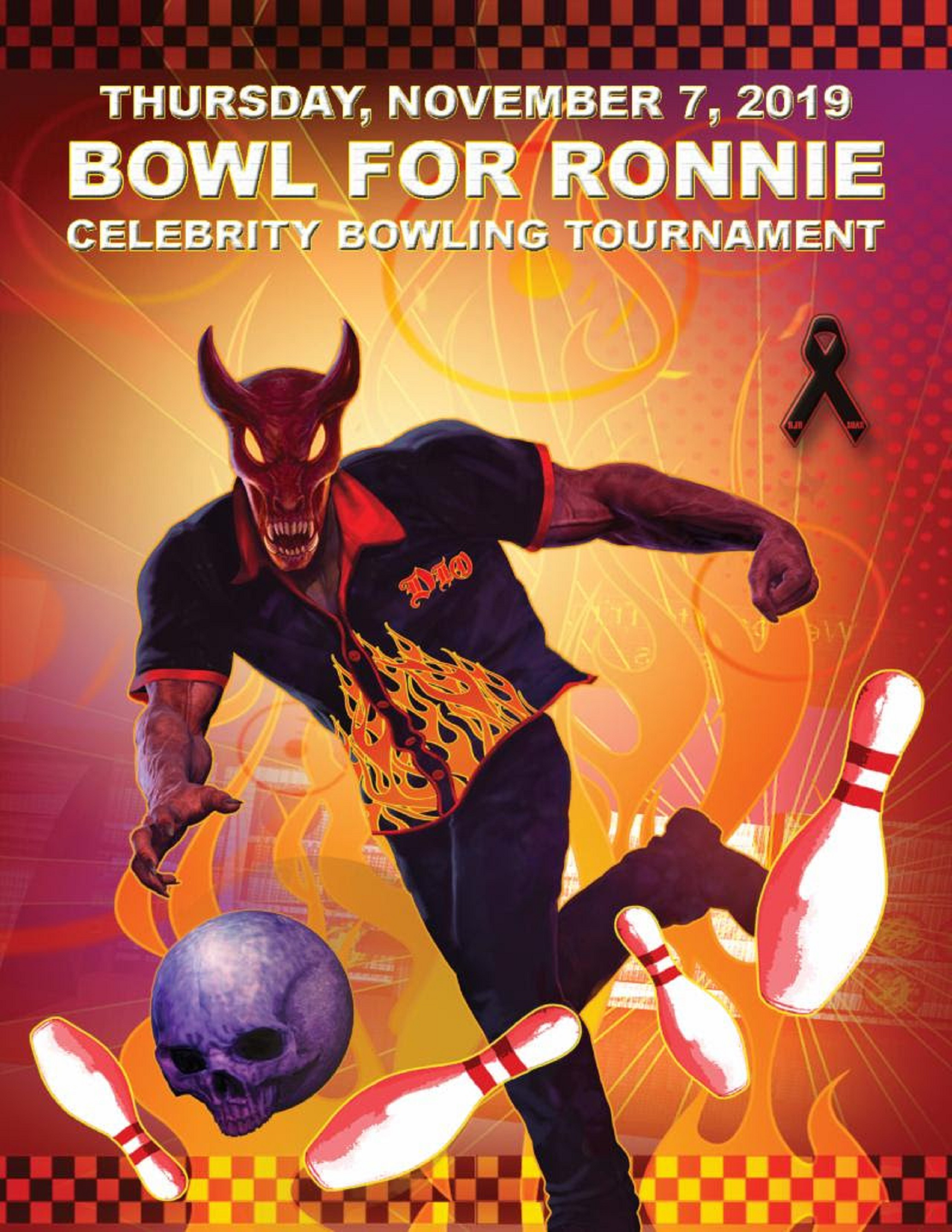"5th Annual ""Bowl for Ronnie"" Benefiting Ronnie James Dio Cancer Fund Set for November 7"