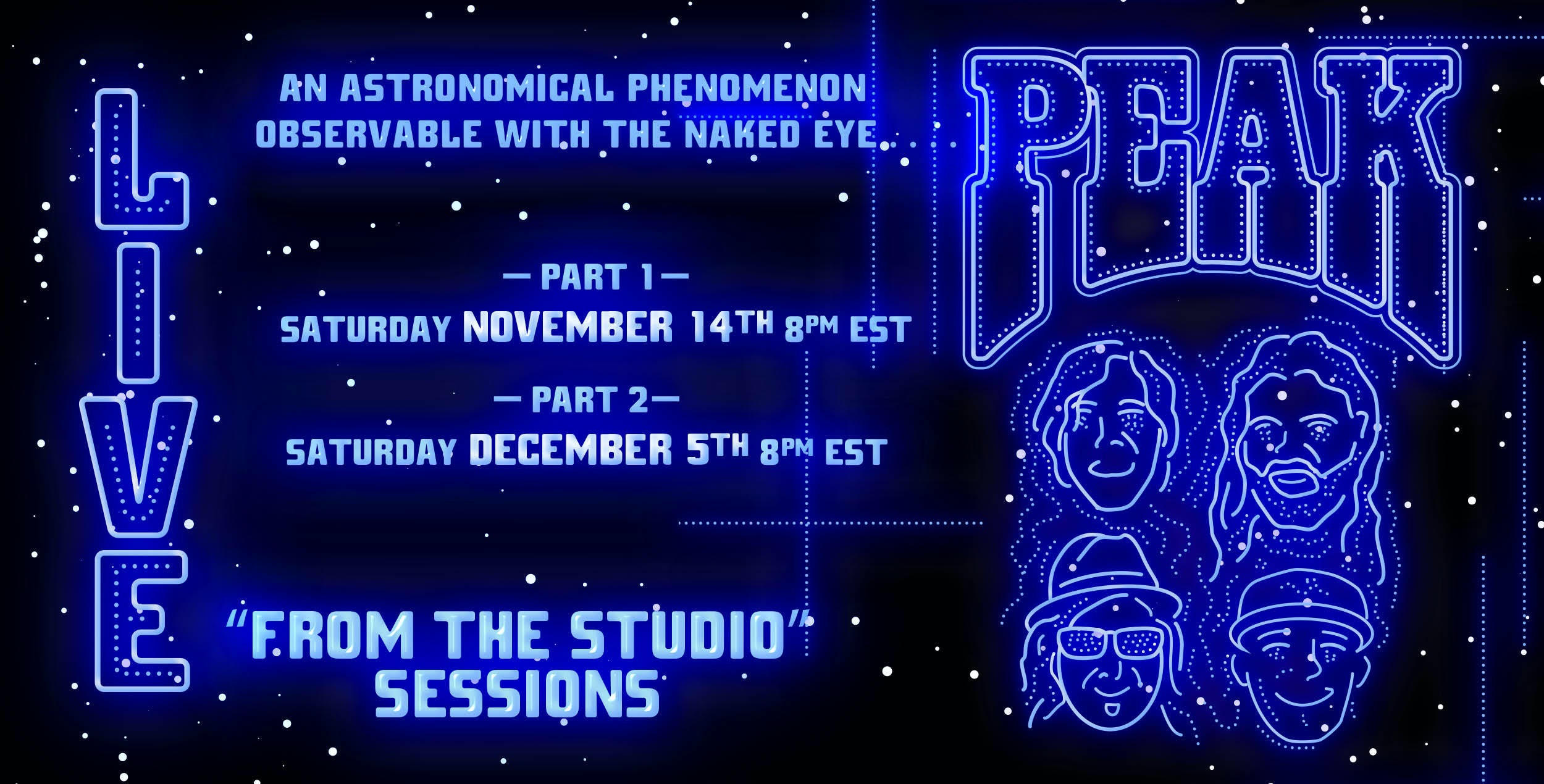 PEAK announces Live From The Studio Sessions, premiering Saturday, November 14