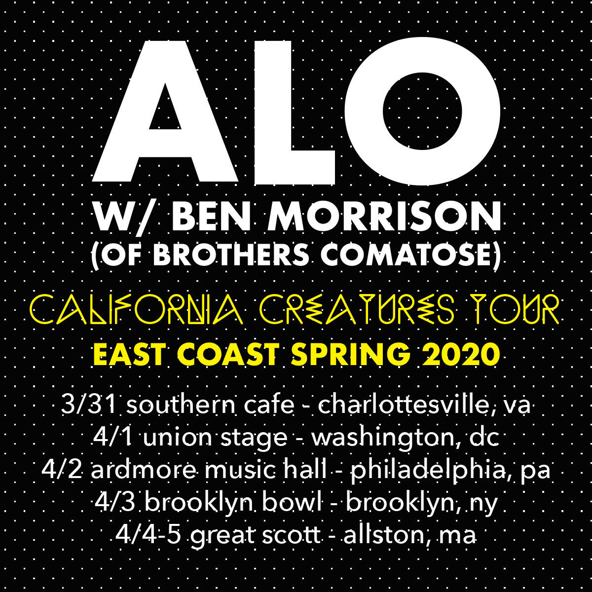 ALO Announces East Coast Dates, Releases 2nd Single