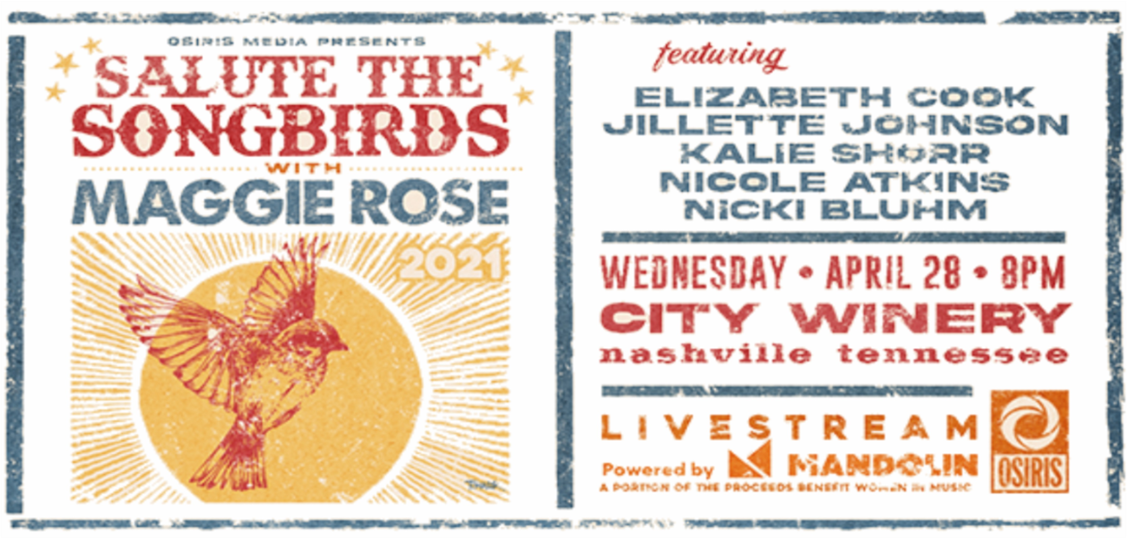 Maggie Rose brings her podcast, Salute The Songbird, to City Winery Nashville