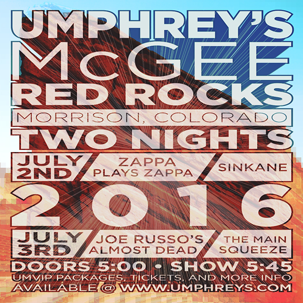 Umphrey's McGee Announces 2 Red Rocks Shows!