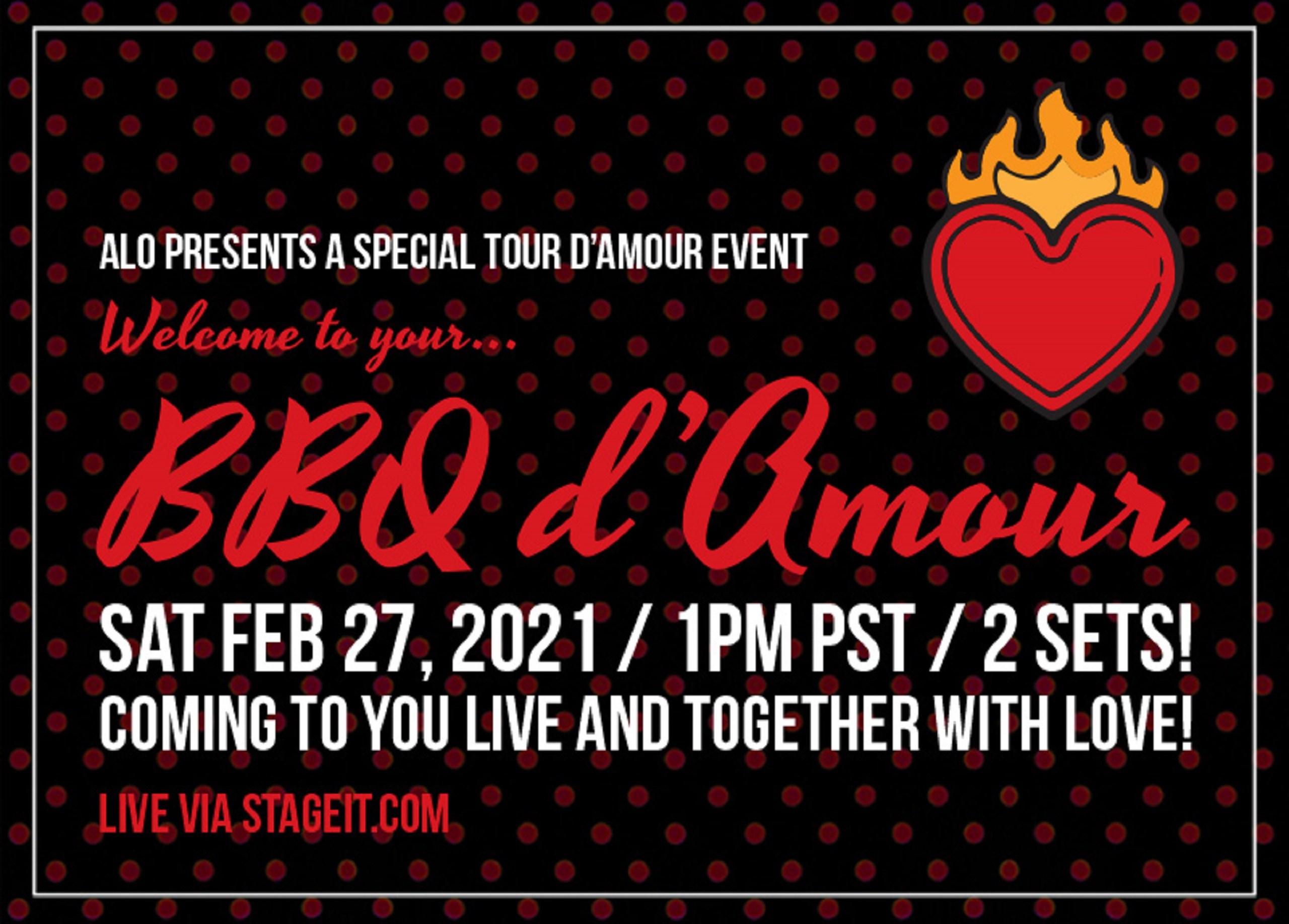 ALO announces: A Tour d'Amour Digital Event
