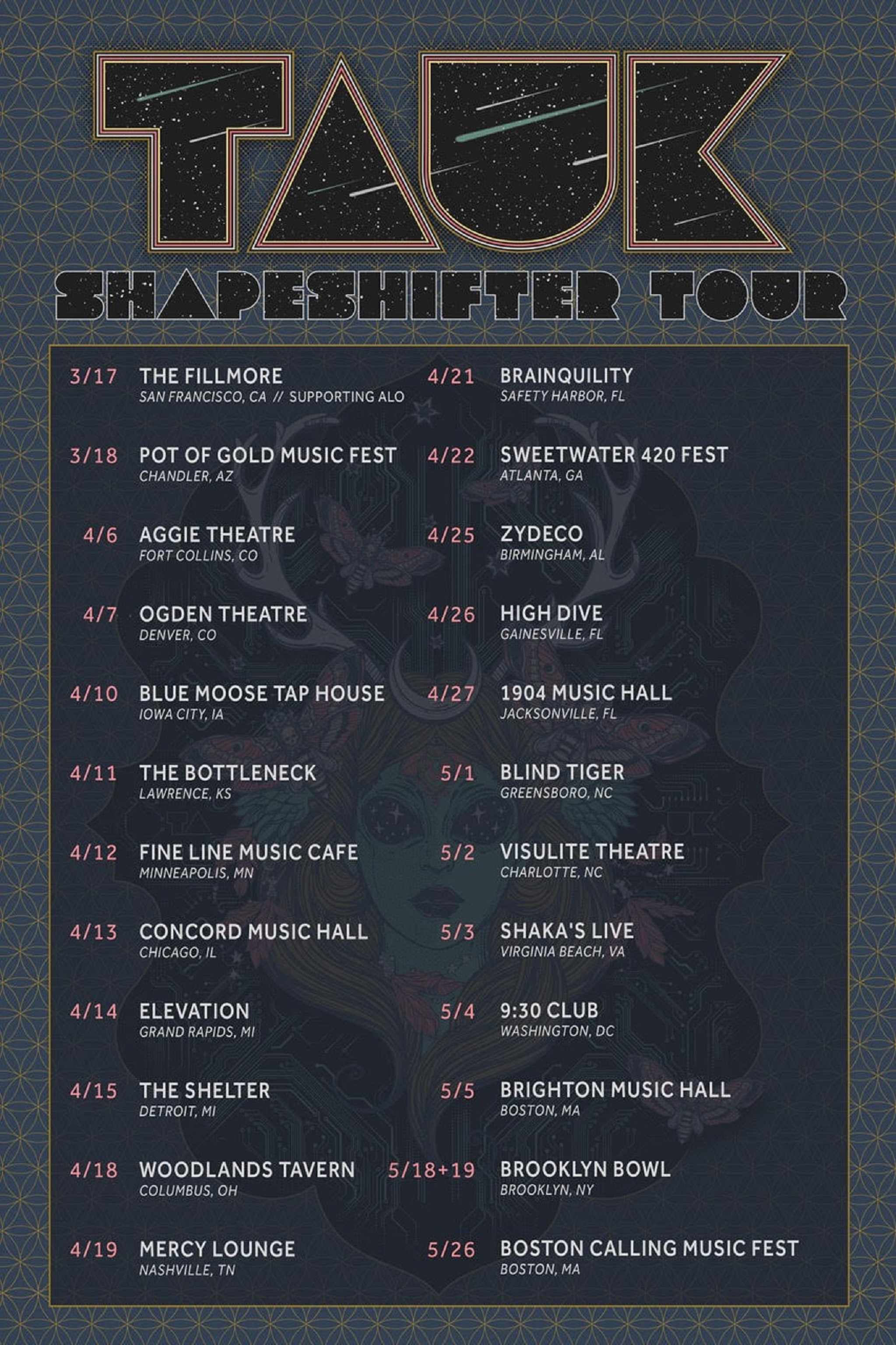 TAUK Announces The Shapeshifter Tour