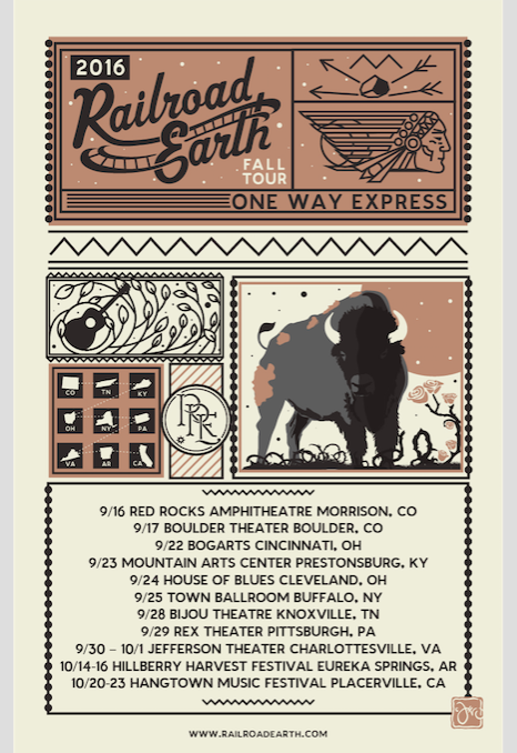 Railroad Earth Add Charlottesville Shows