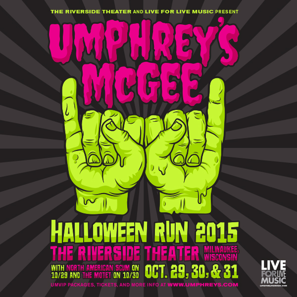 Umphrey's McGee Halloween tixs on sale now