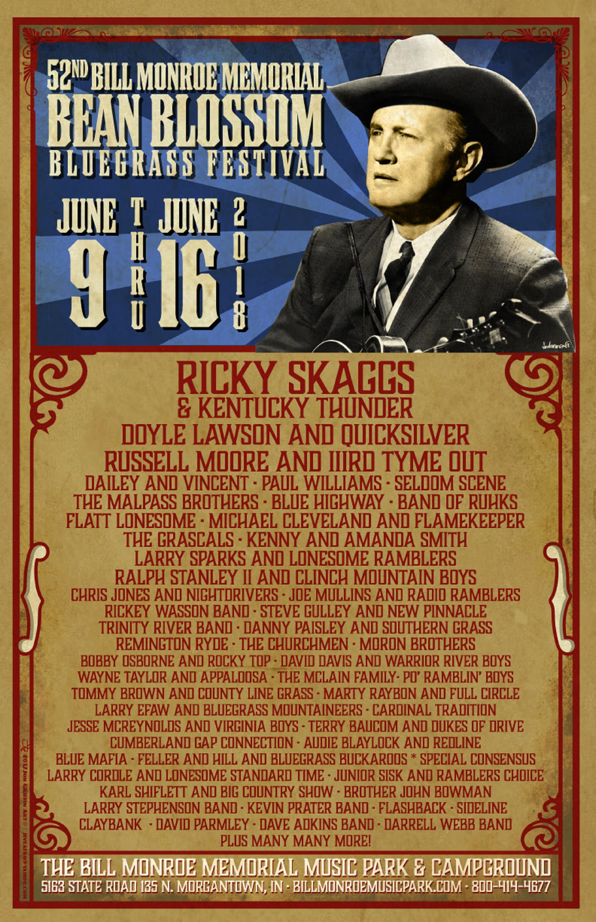 Bean Blossom Line-Up Includes Ricky Skaggs, Asleep at the Wheel & more!