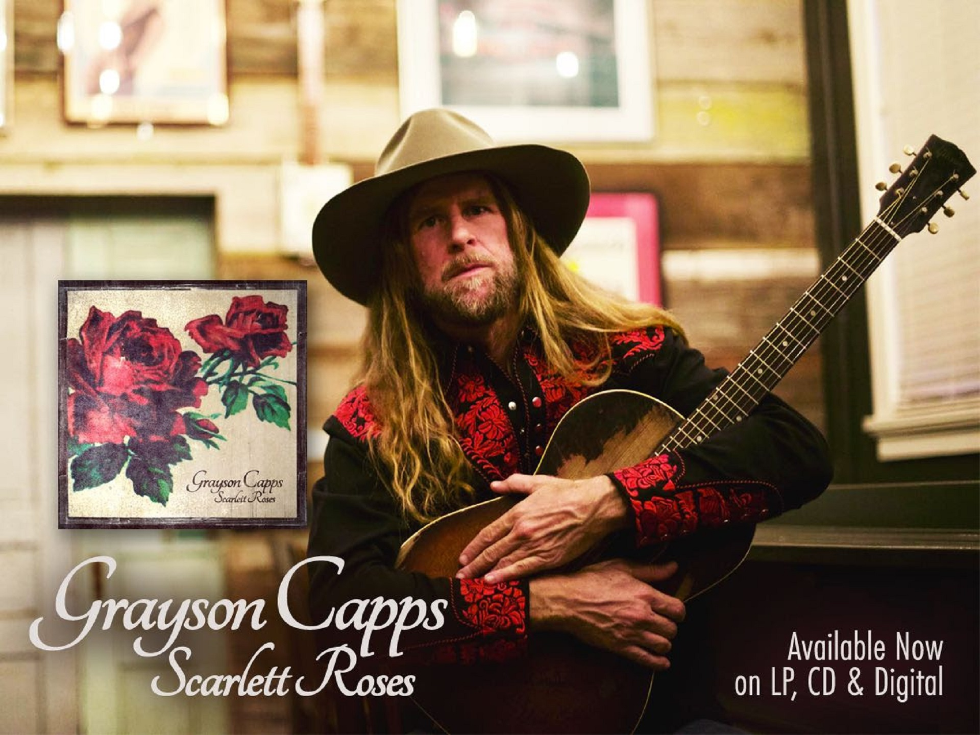 Grayson Capps 'Scarlett Roses' Out Tomorrow