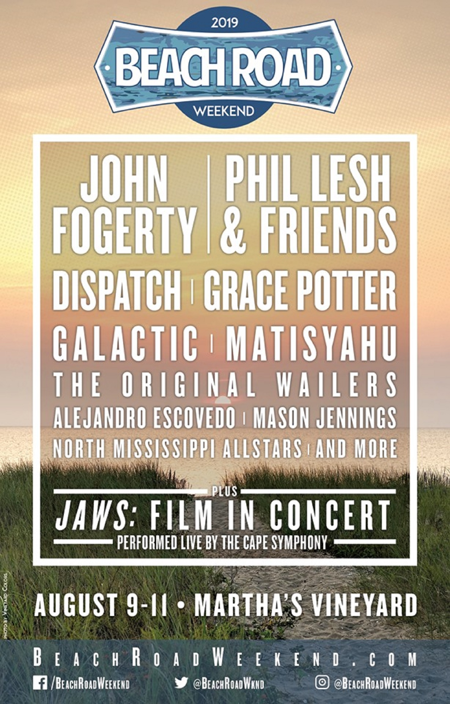 Inaugural Martha's Vineyard Festival to feature Phil Lesh and Friends, John Fogerty, Grace Potter, Dispatch and more