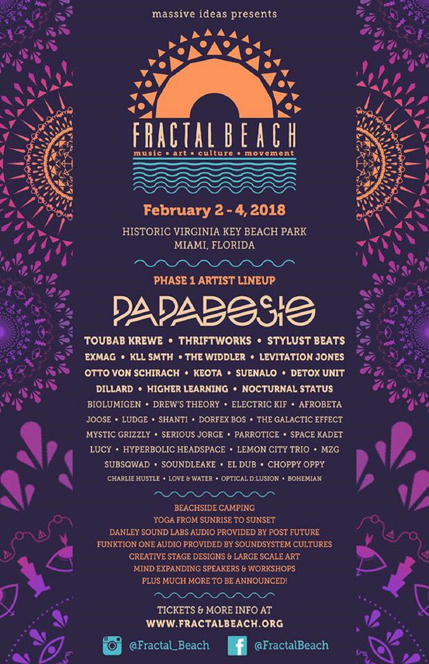 Fractal Beach 2018 Announces Lineup