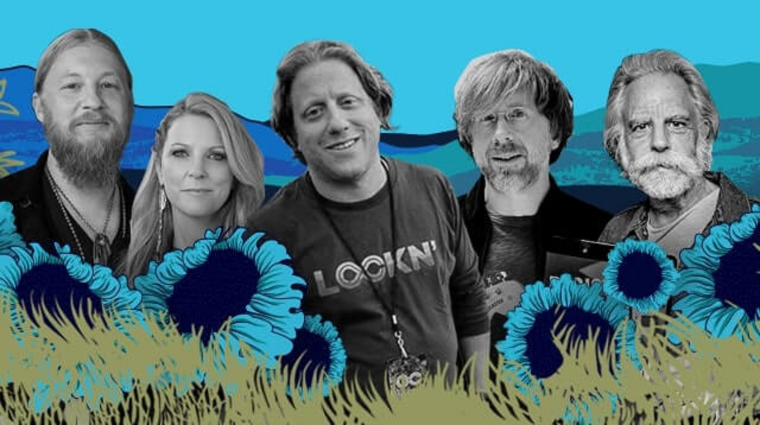 Meet Bob Weir, Derek + Susan, & Trey as Peter Shapiro's Guest at LOCKN'