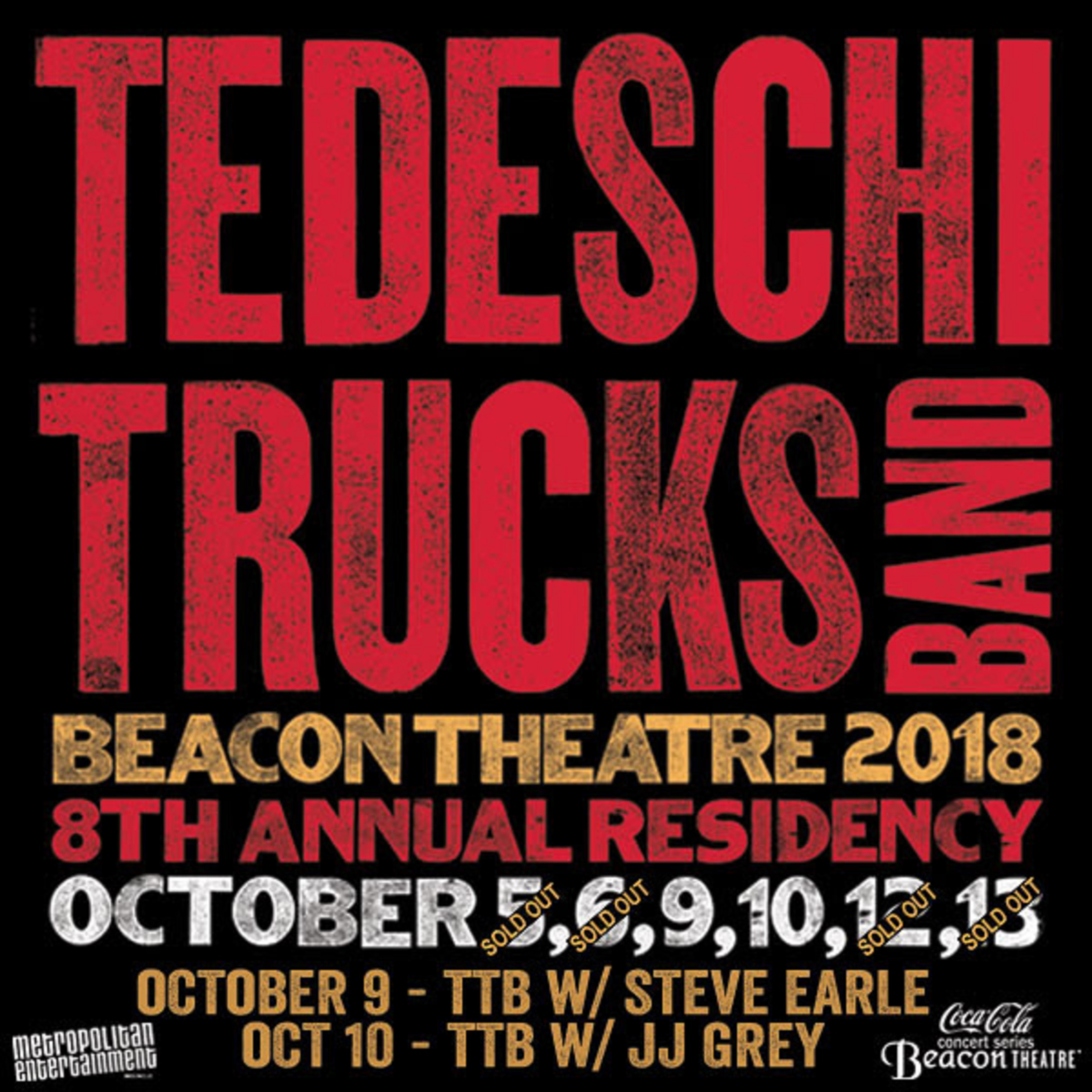 TEDESCHI TRUCKS BAND Announces Opening Acts for Six Night Beacon Theatre Residency